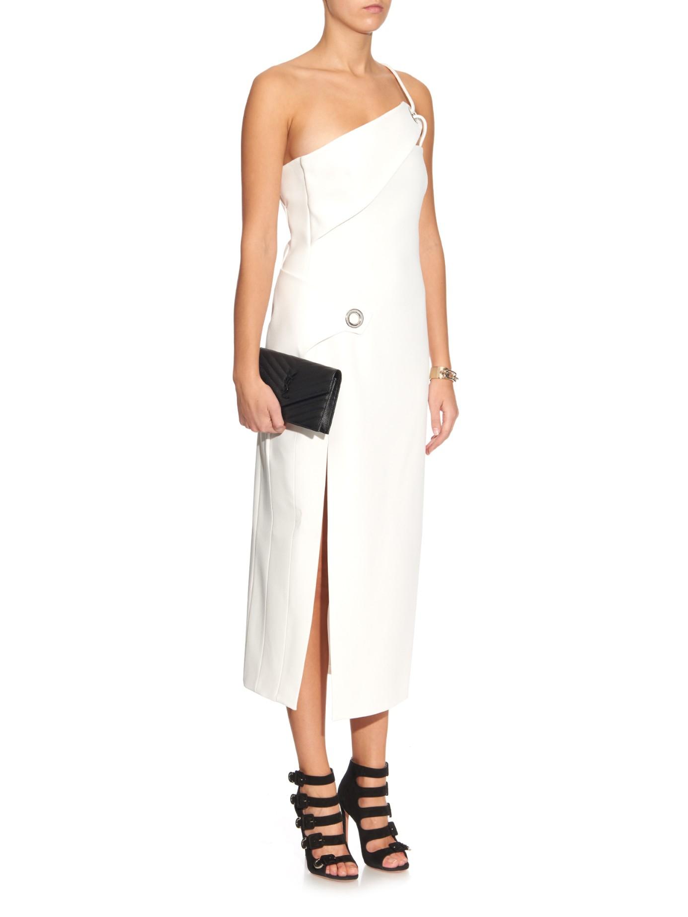 asymmetric dress - White MUGLER IczSoR