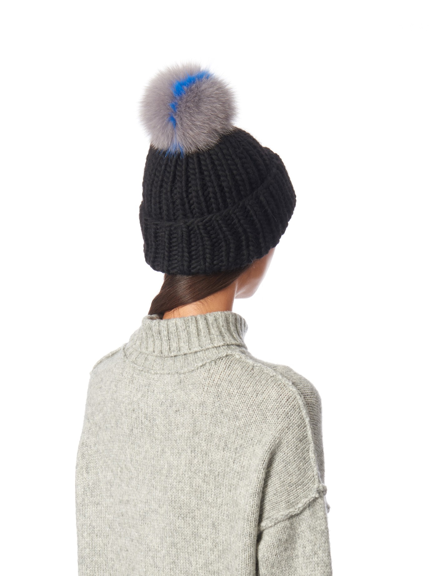 94cd023398e Lyst Eugenia Kim Rain Fur Pompom Beanie Hat In Black