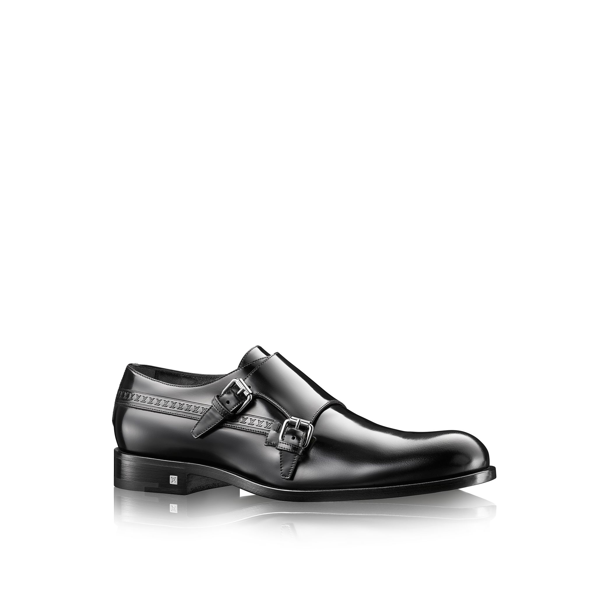louis vuitton state buckle shoe in black for lyst