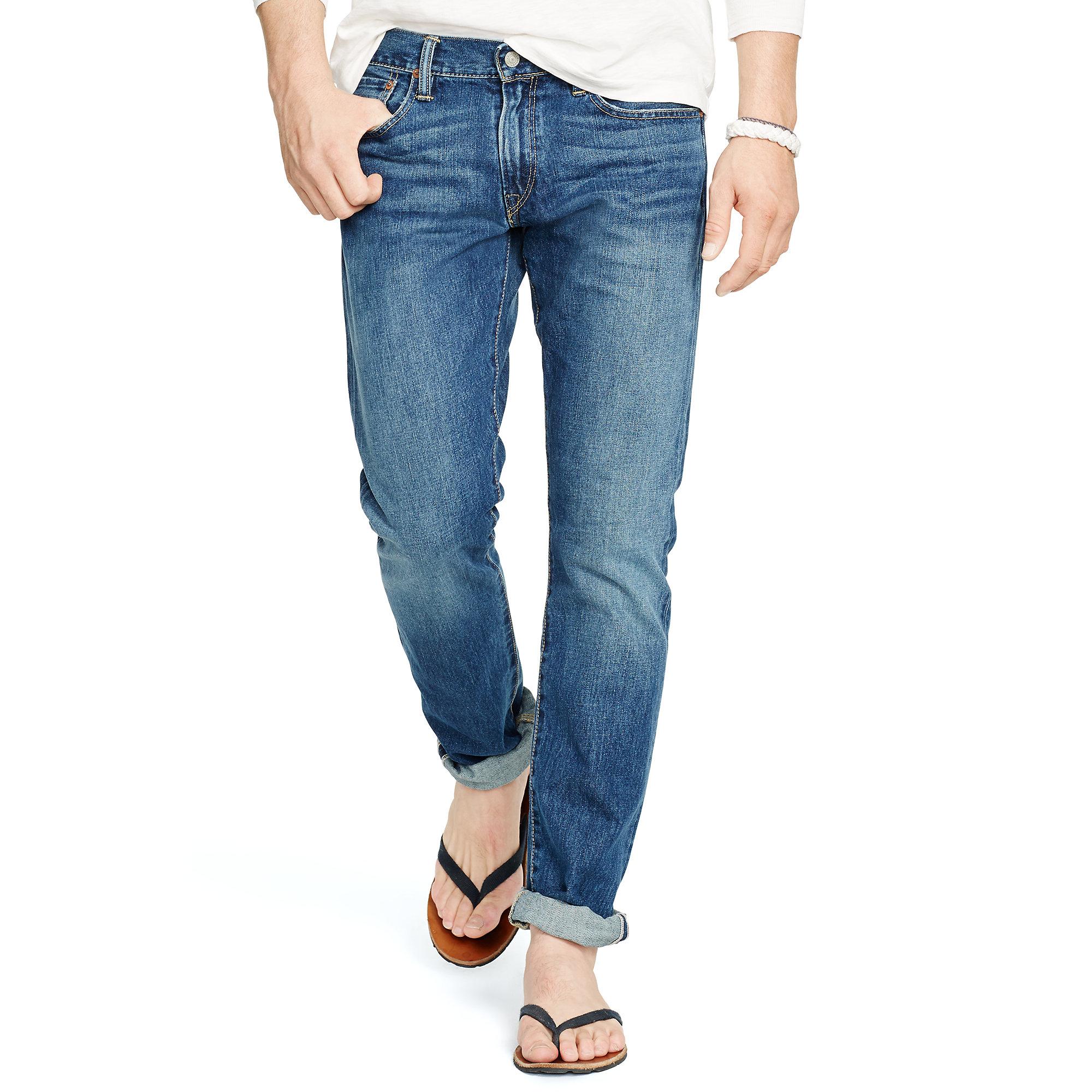 polo ralph lauren sullivan slim fit jean in blue for men. Black Bedroom Furniture Sets. Home Design Ideas