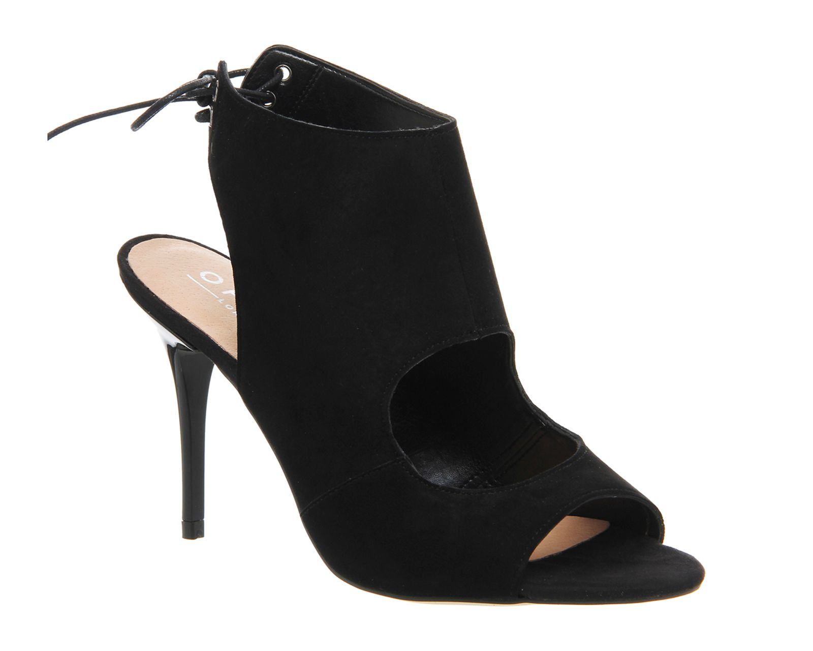 office queue jump cut out shoe boots in black lyst