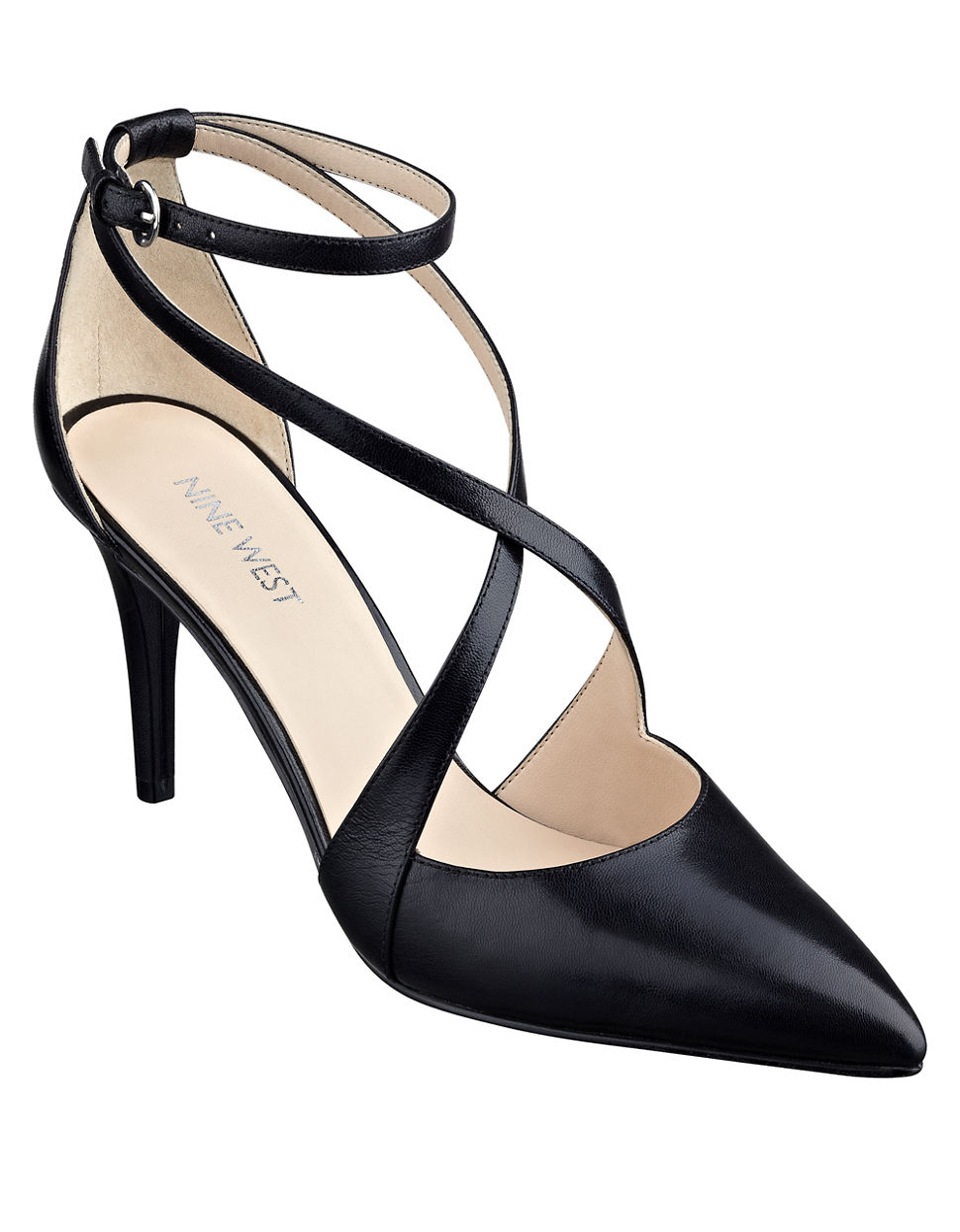 Lyst - Nine West Peacesign Leather Pointed-Toe Pumps in Black bb7f9fe85