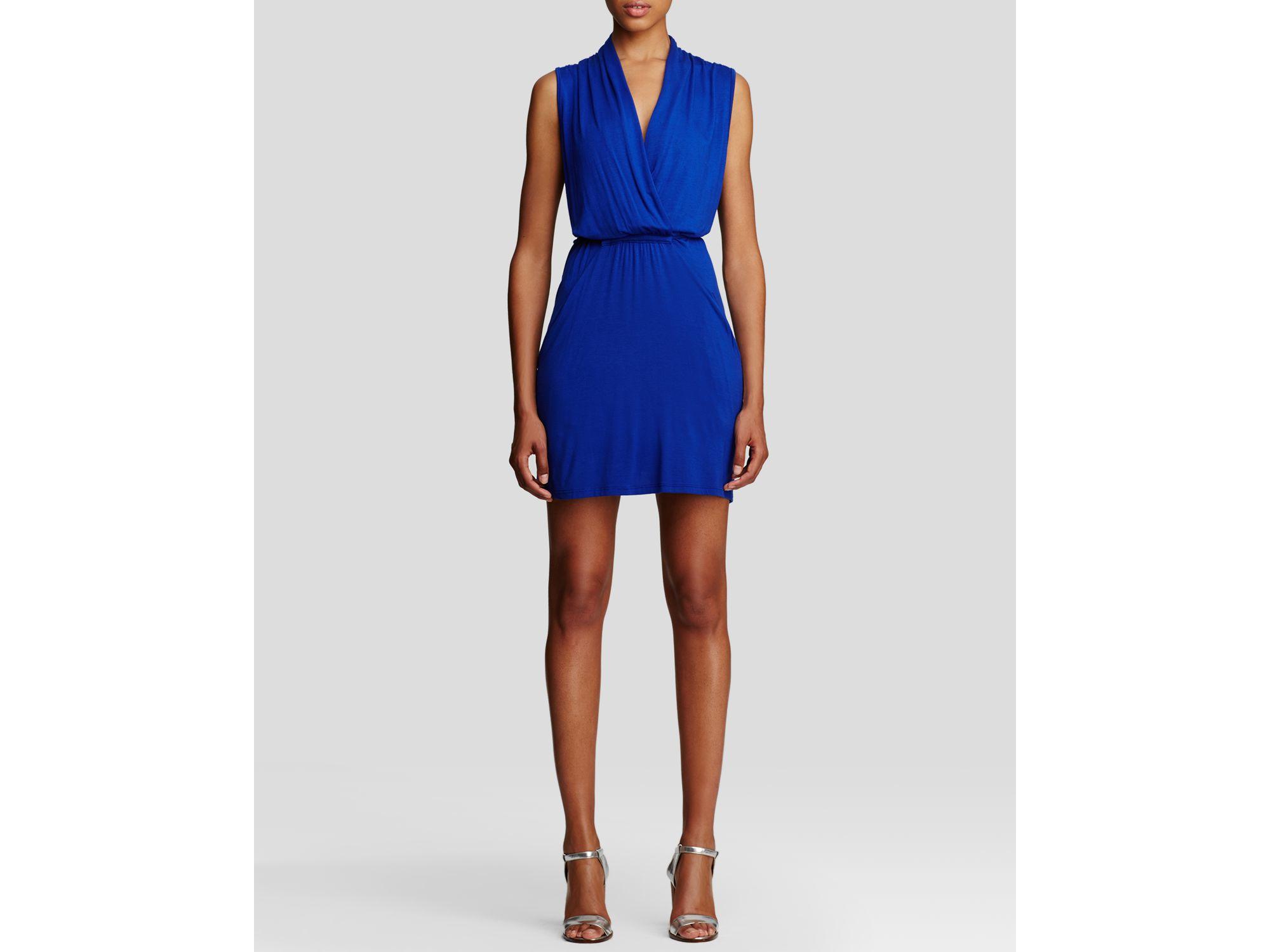 f83db661b5 Lyst - Kut From The Kloth Emily Drape Front Knit Dress in Blue