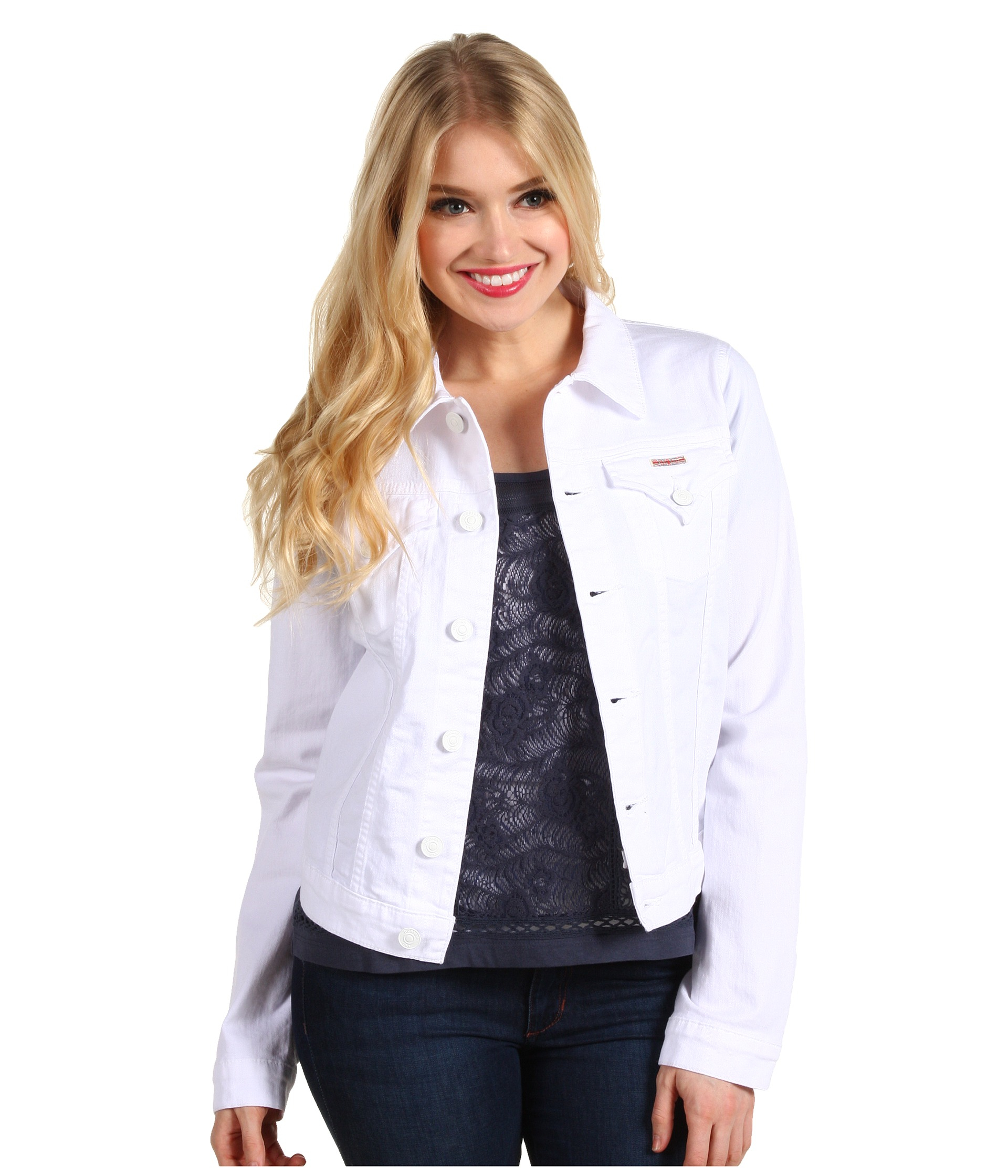 1a6b0fed60f6 Hudson Jeans Signature Jean Jacket In White in White - Lyst