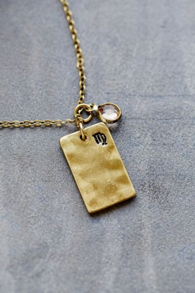 Lyst - Urban Outfitters Stamped Zodiac Necklace in Metallic