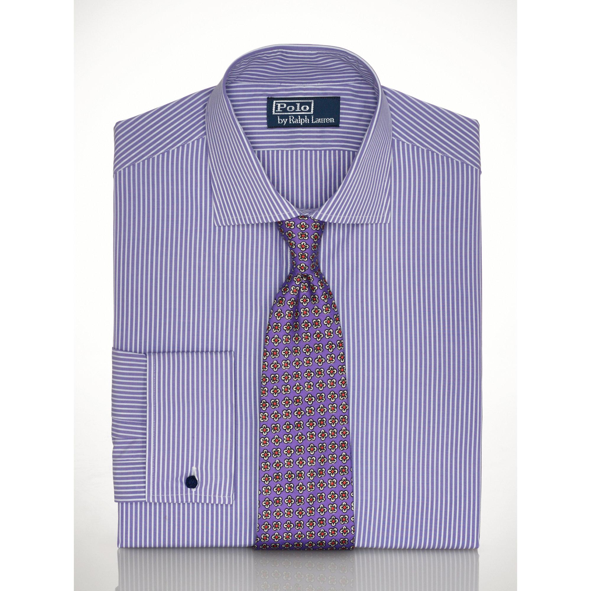 Polo ralph lauren purple custom fit regent dress shirt for Custom fit dress shirts