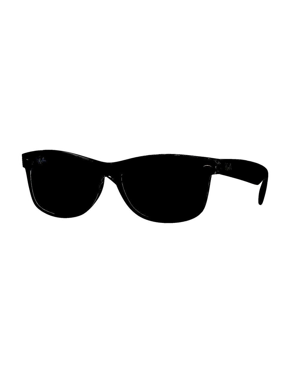 lyst ray ban 55mm new wayfarer sunglasses in black for men Ray-Ban Gold Aviators Celeb gallery