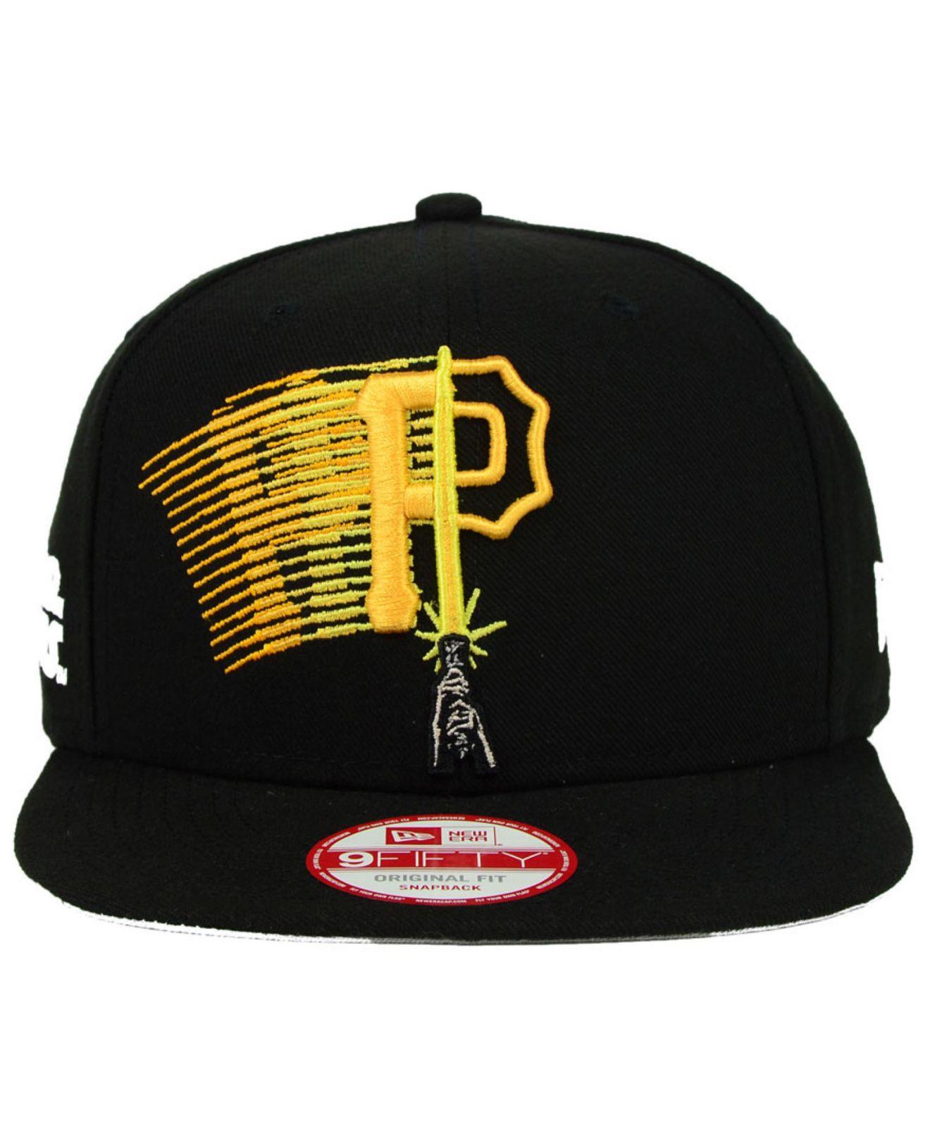 best website a4830 e24d0 KTZ Pittsburgh Pirates Star Wars Logoswipe 9Fifty Snapback Cap in ...