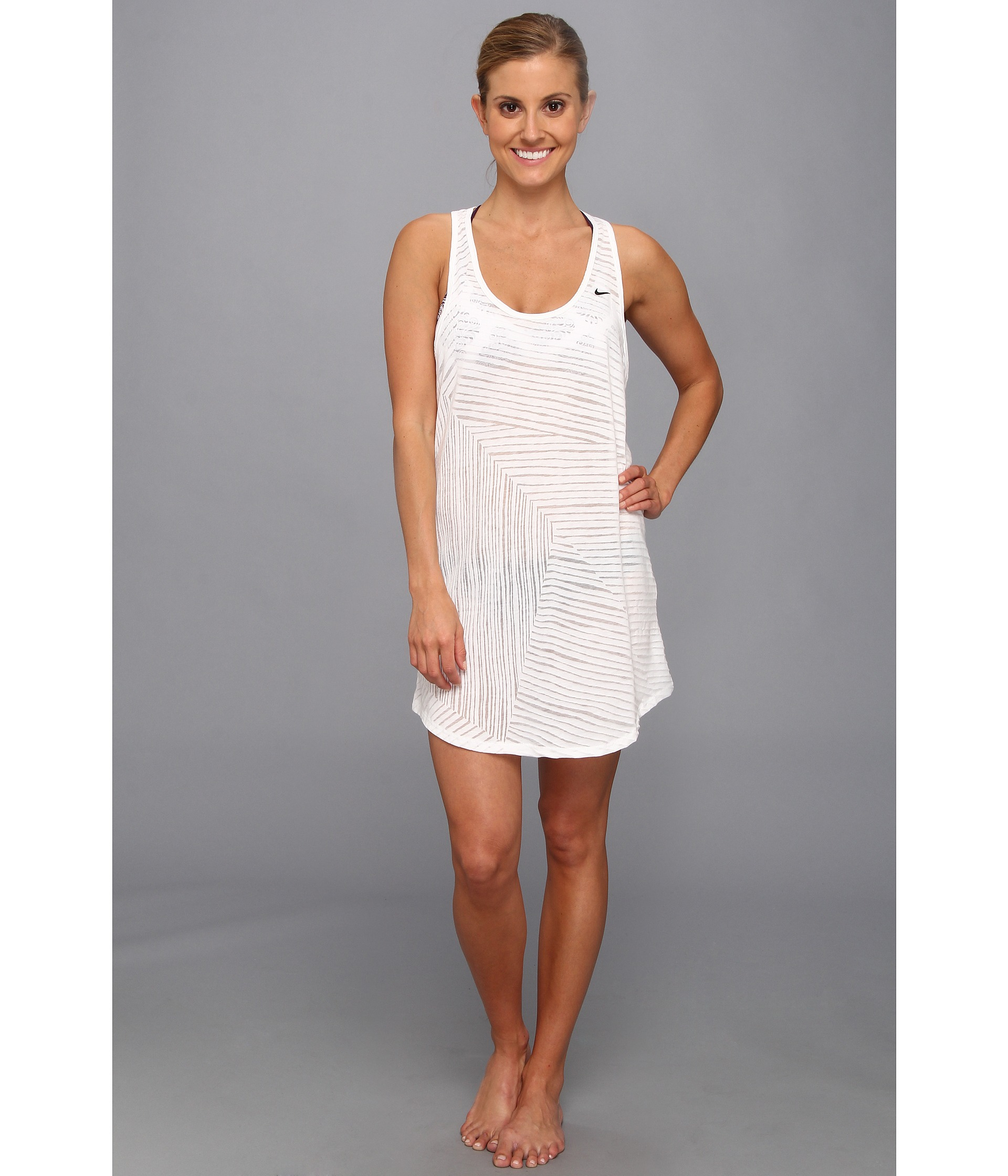 0accd31875 Nike Coverups Tank Dress in White - Lyst