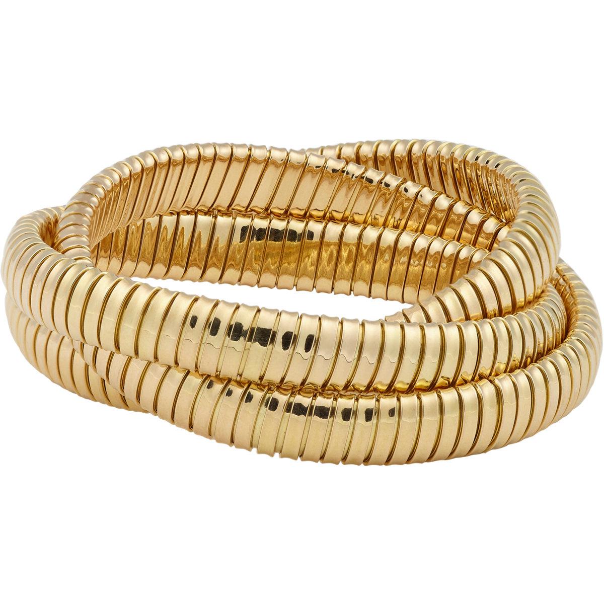 Lyst Sidney Garber Gold Rolling Bracelet In Metallic