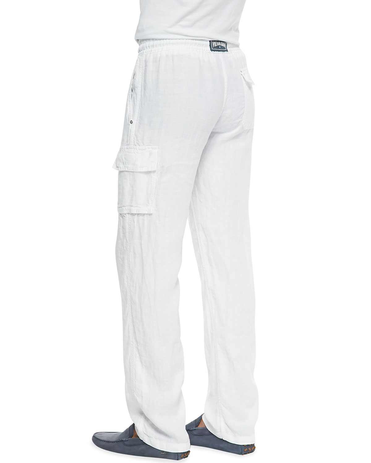 Lyst Vilebrequin Linen Cargo Pants In White For Men