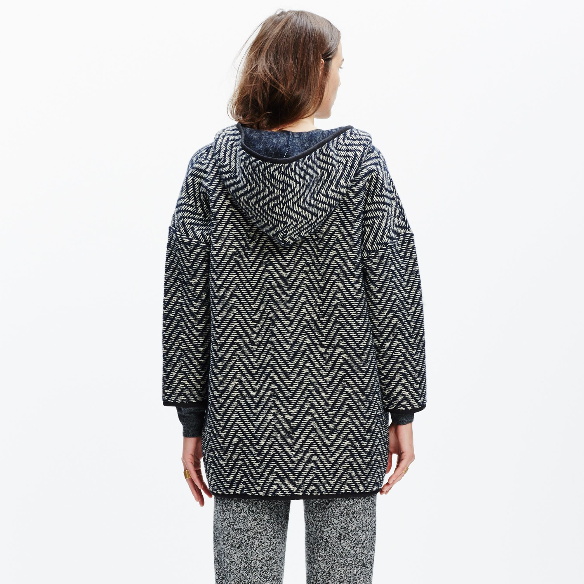 Madewell Herringbone Wrap Jacket in Gray | Lyst