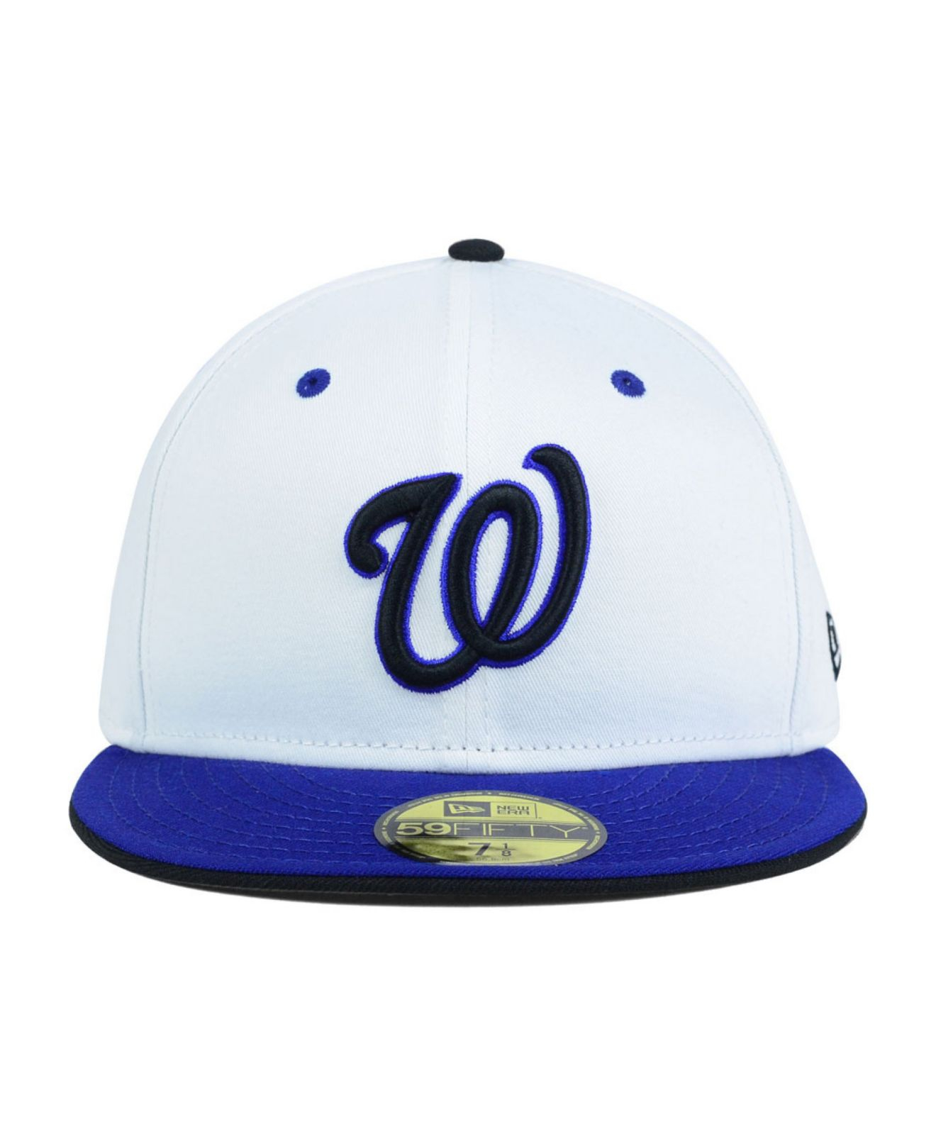 check out 0aff0 ceb67 ... coupon lyst ktz washington nationals mlb august hookups 59fifty cap in  white for men 51fde 8d4df