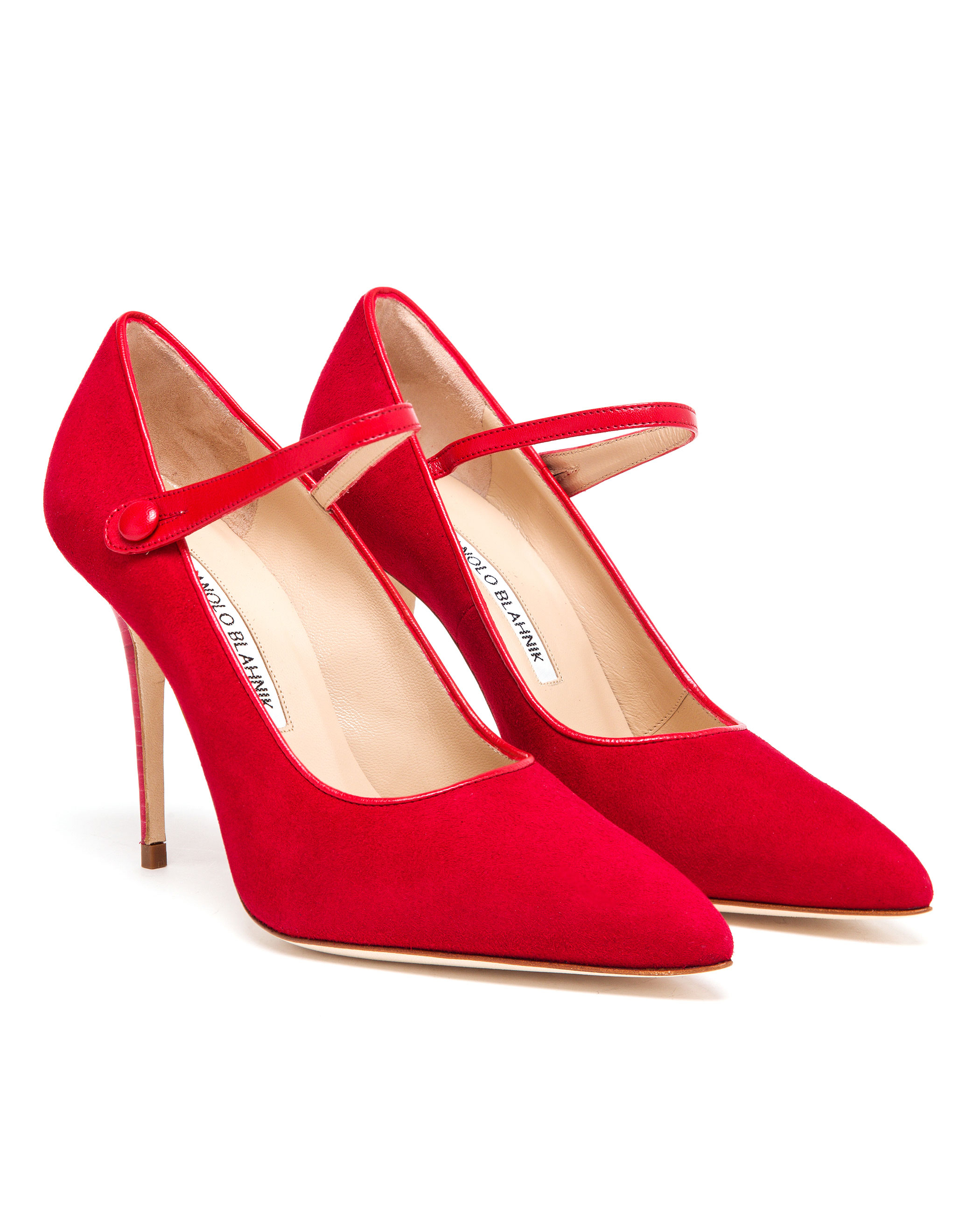 manolo blahnik red heels