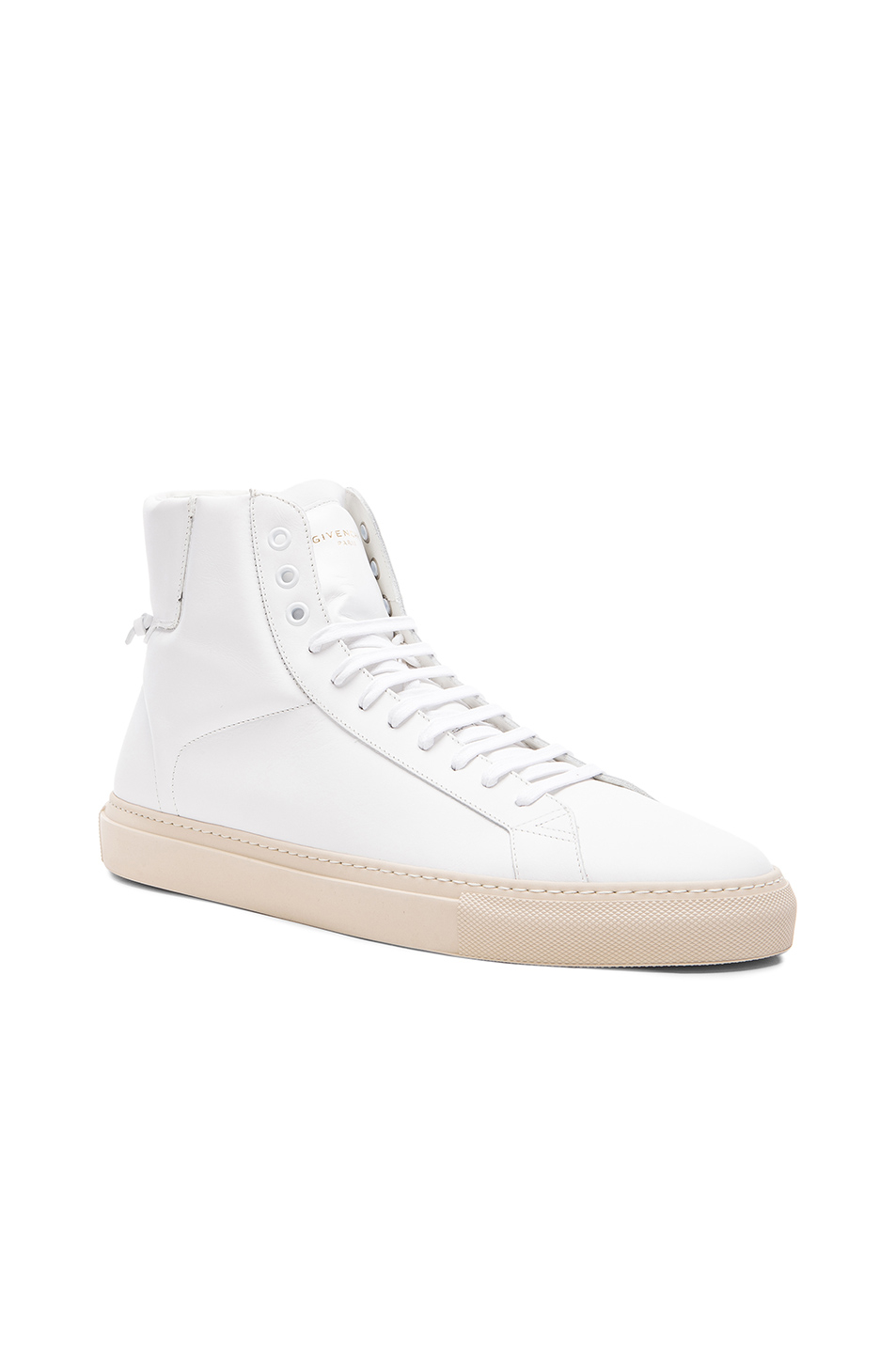 givenchy knots high top leather sneakers in white for