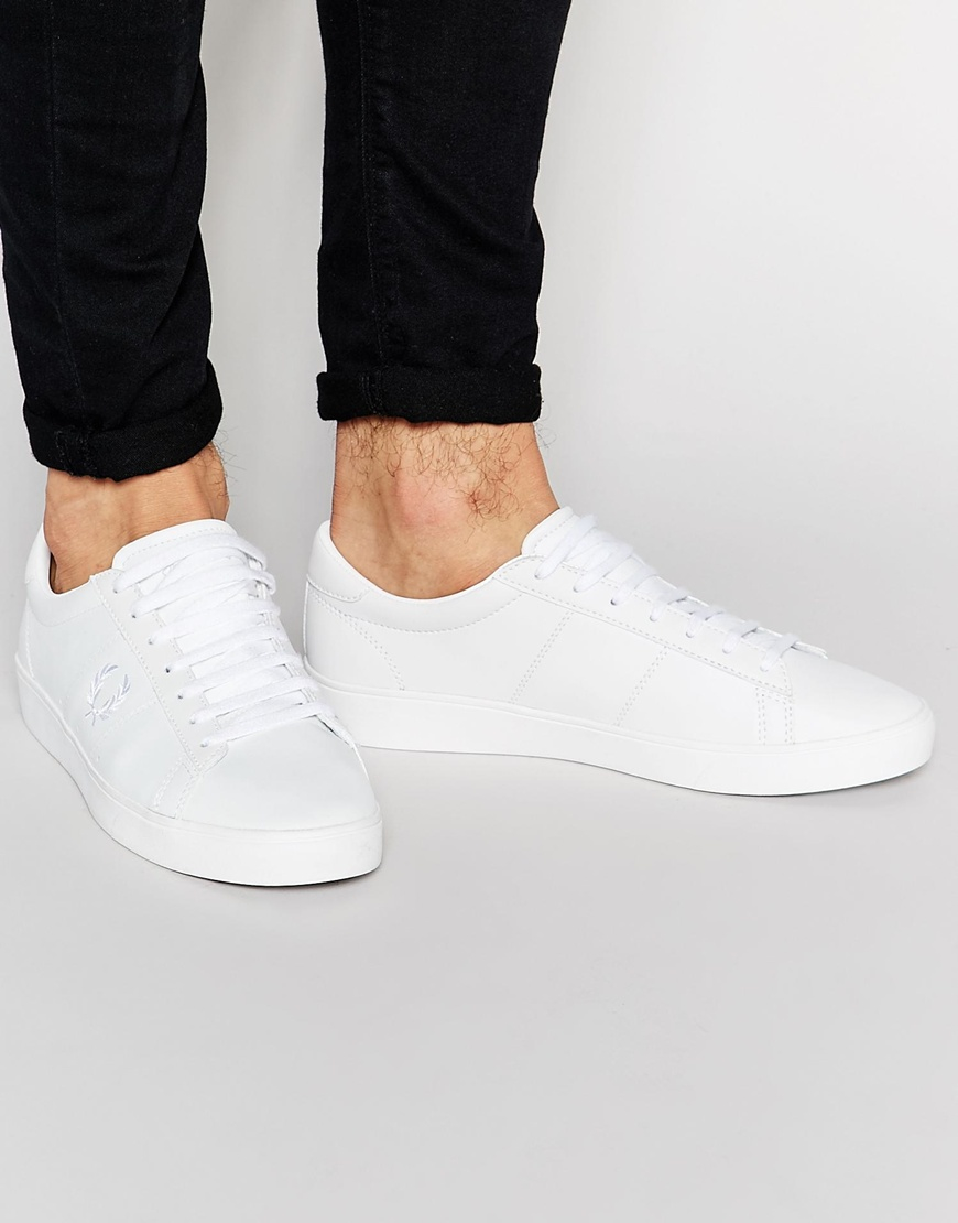 Fred Perry Spencer Leather Trainers In White wiki sale online cheap pay with visa buy cheap footlocker finishline cheap price top quality v2sbk8HN