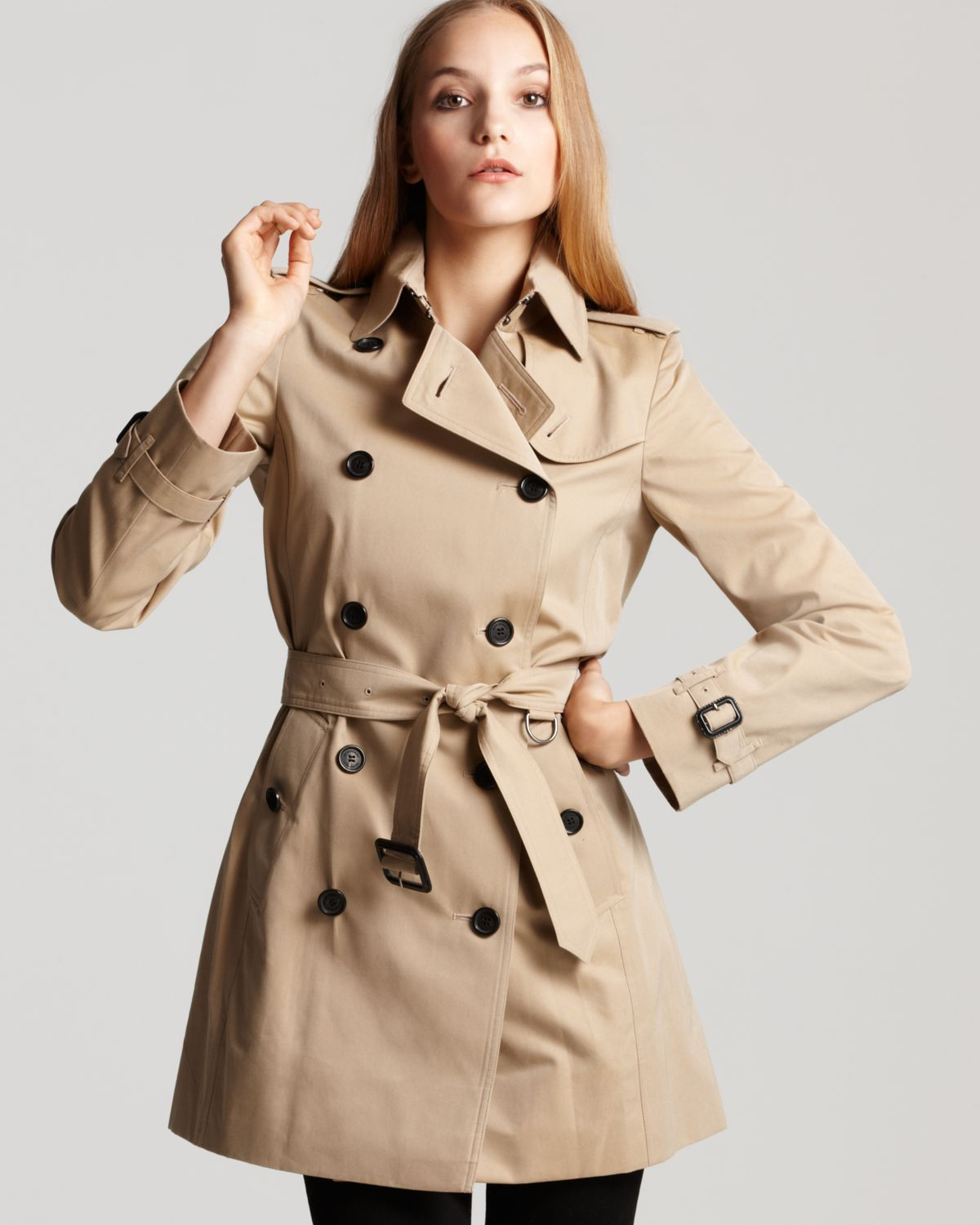 burberry london buckingham trench coat in natural lyst. Black Bedroom Furniture Sets. Home Design Ideas