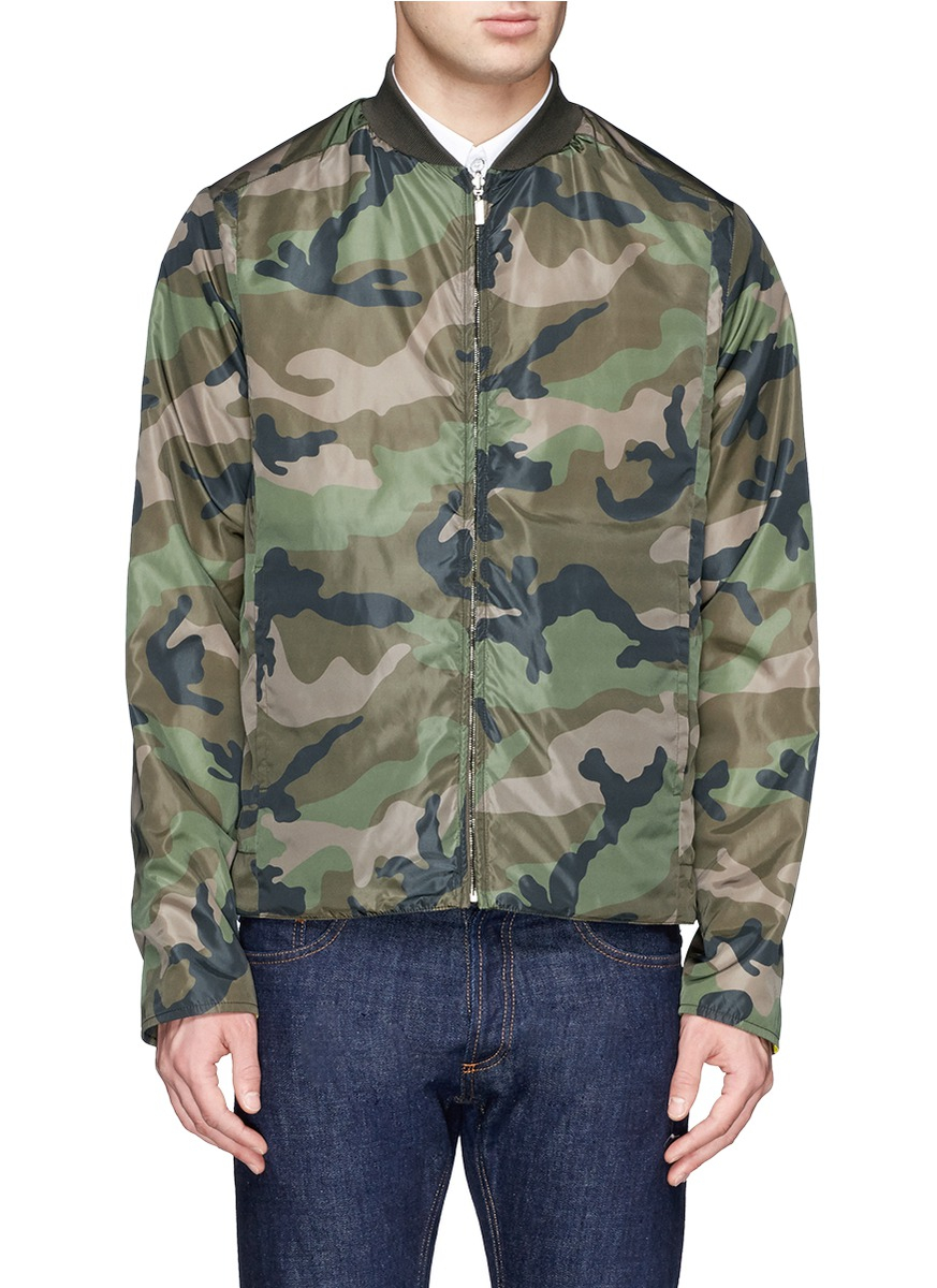 cb7a3bd650b75 Valentino Reversible Camouflage Print Windbreaker in Green for Men ...