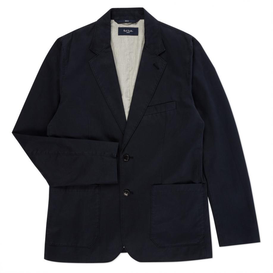 Paul smith Men's Navy Cotton-twill Unstructured Blazer in ...