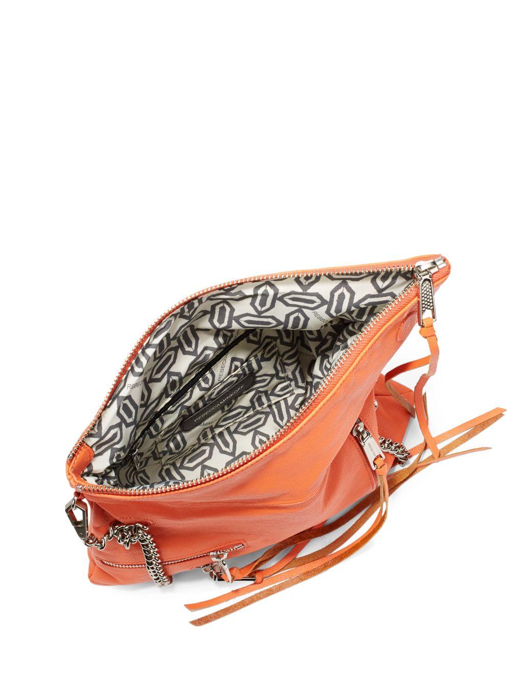 817571e446 Lyst - Rebecca Minkoff Harper Studded Crossbody Bag in Orange