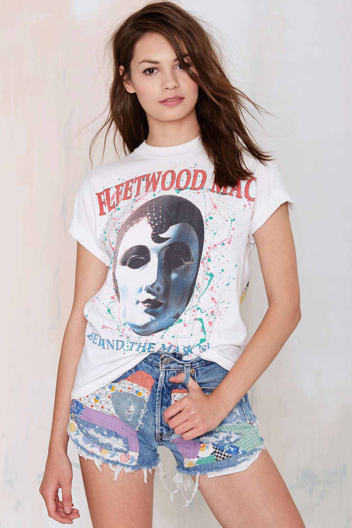 5031faba Nasty Gal Vintage Fleetwood Mac Behind The Mask Tee in White - Lyst