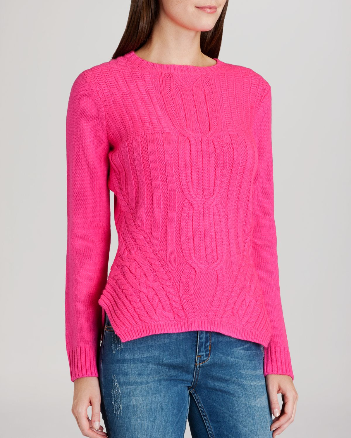 Ted Baker Sweater Daisuma Cable Knit In Pink Mid Pink