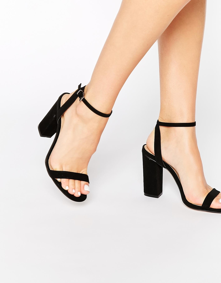 c332e3a2cec Lyst - ASOS Hermione Heeled Sandals in Black
