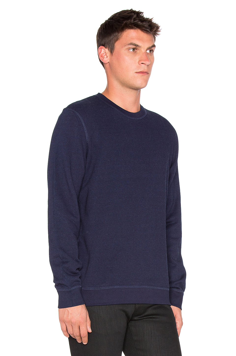 Naked  Famous Slim Crew French Terry In Blue For Men - Lyst-1221