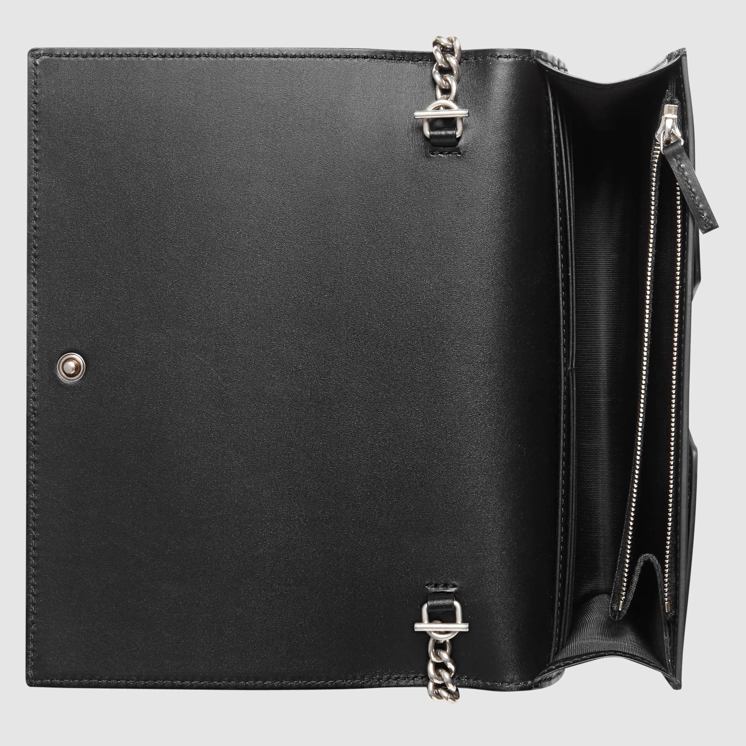 aa2cc0c7f57 Lyst - Gucci XL Leather Mini Shoulder Bag in Black
