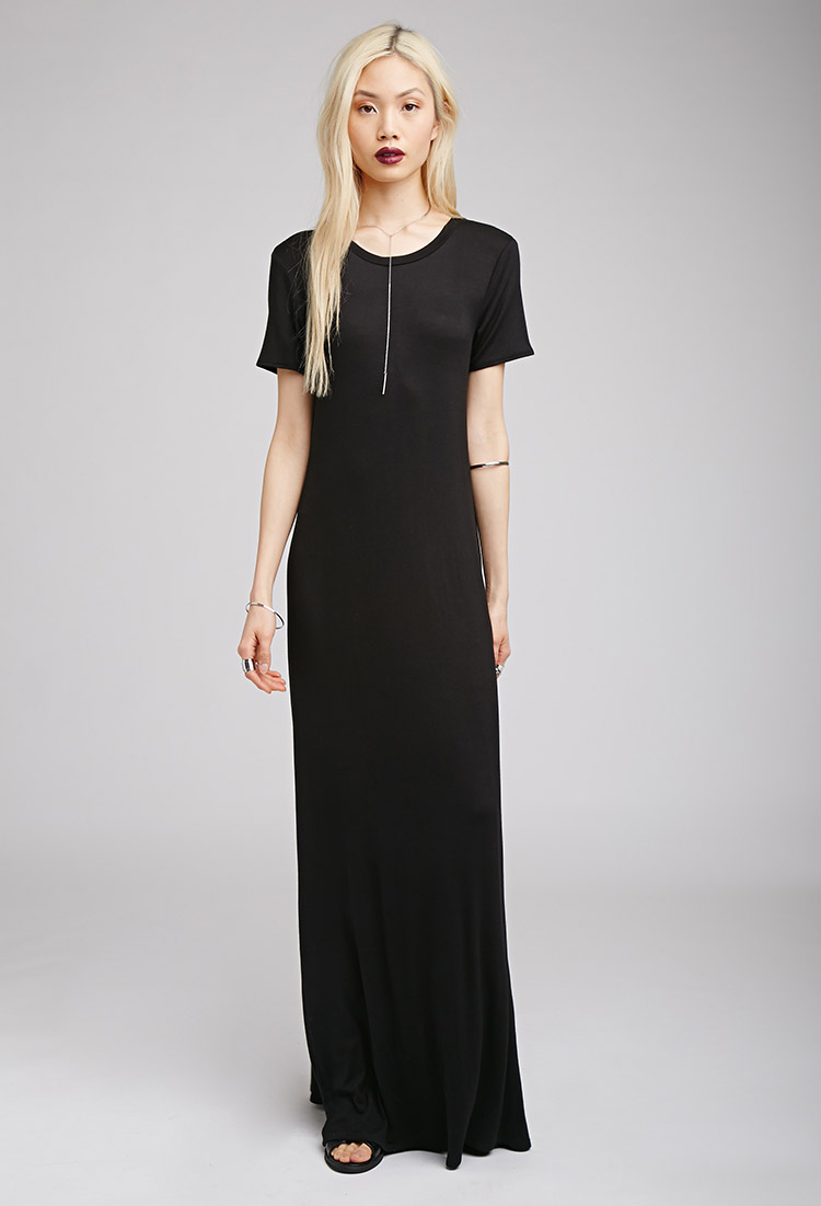Lyst Forever 21 Maxi T Shirt Dress In Black