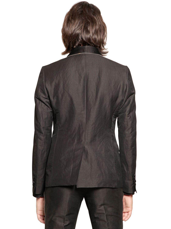 Lyst John Richmond Zip Trim Viscose Twill Tuxedo Jacket