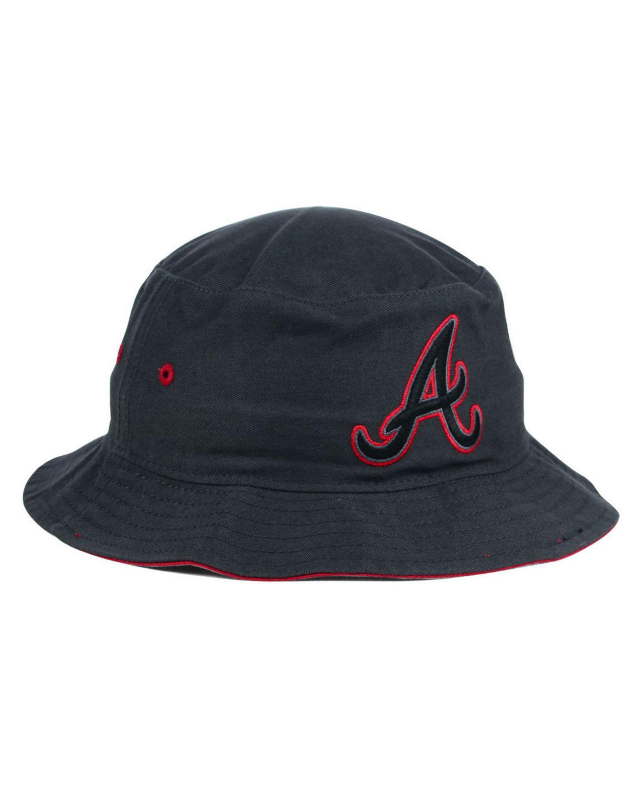 b133c31e0b4 Lyst - 47 Brand Atlanta Braves Turbo Bucket Hat in Gray