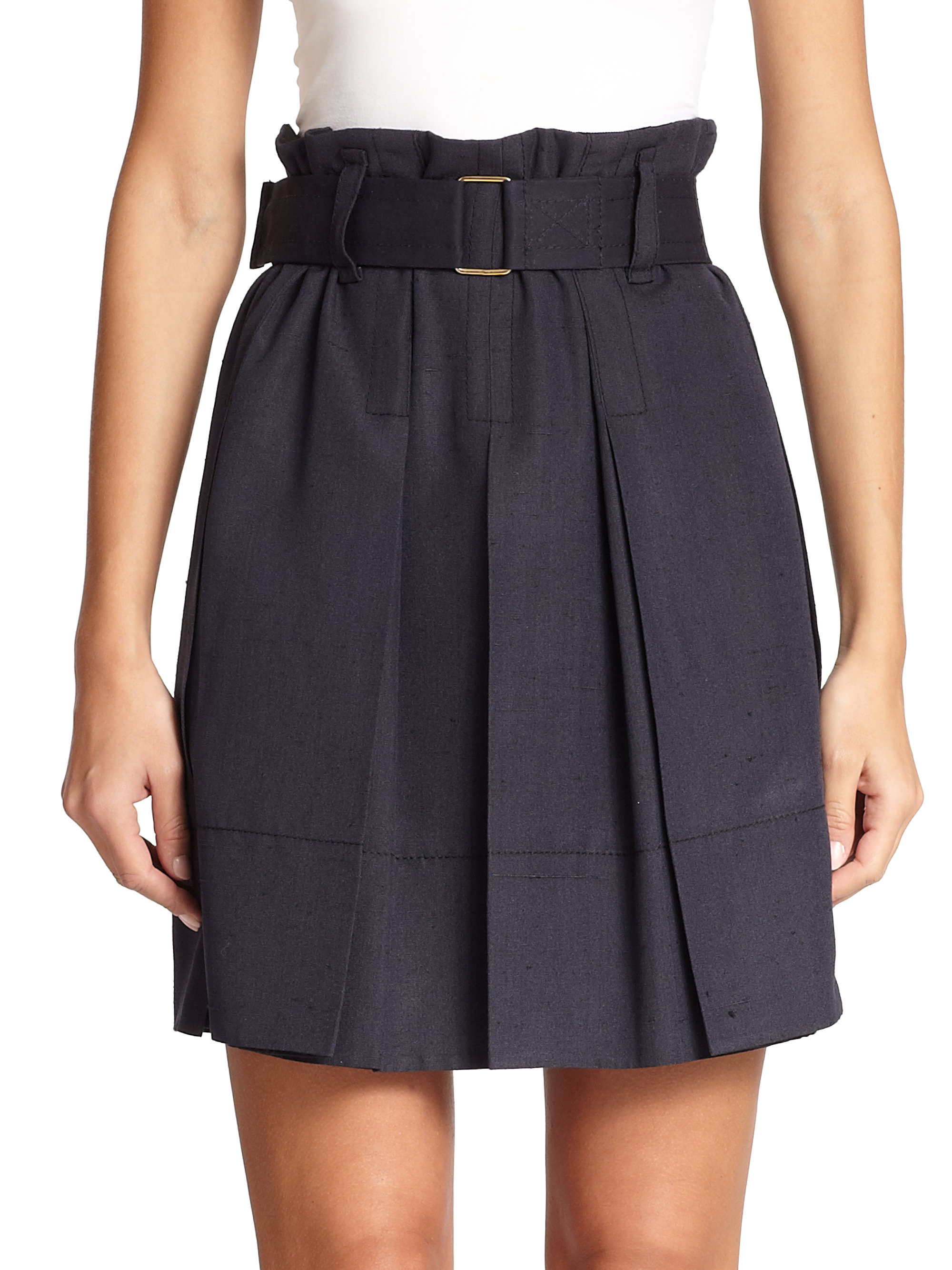 Marc jacobs Pleated High-waisted Skirt in Blue | Lyst