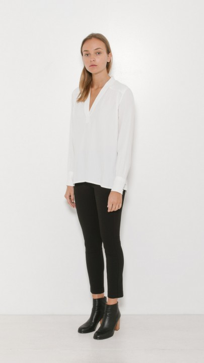 Lyst Helmut Lang Kimono Collar Blouse In White