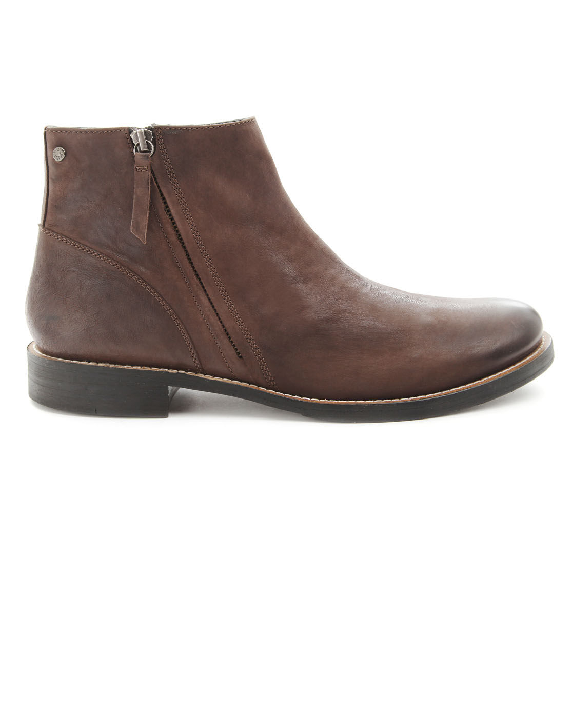 diesel overland zipped brown boots in brown for lyst