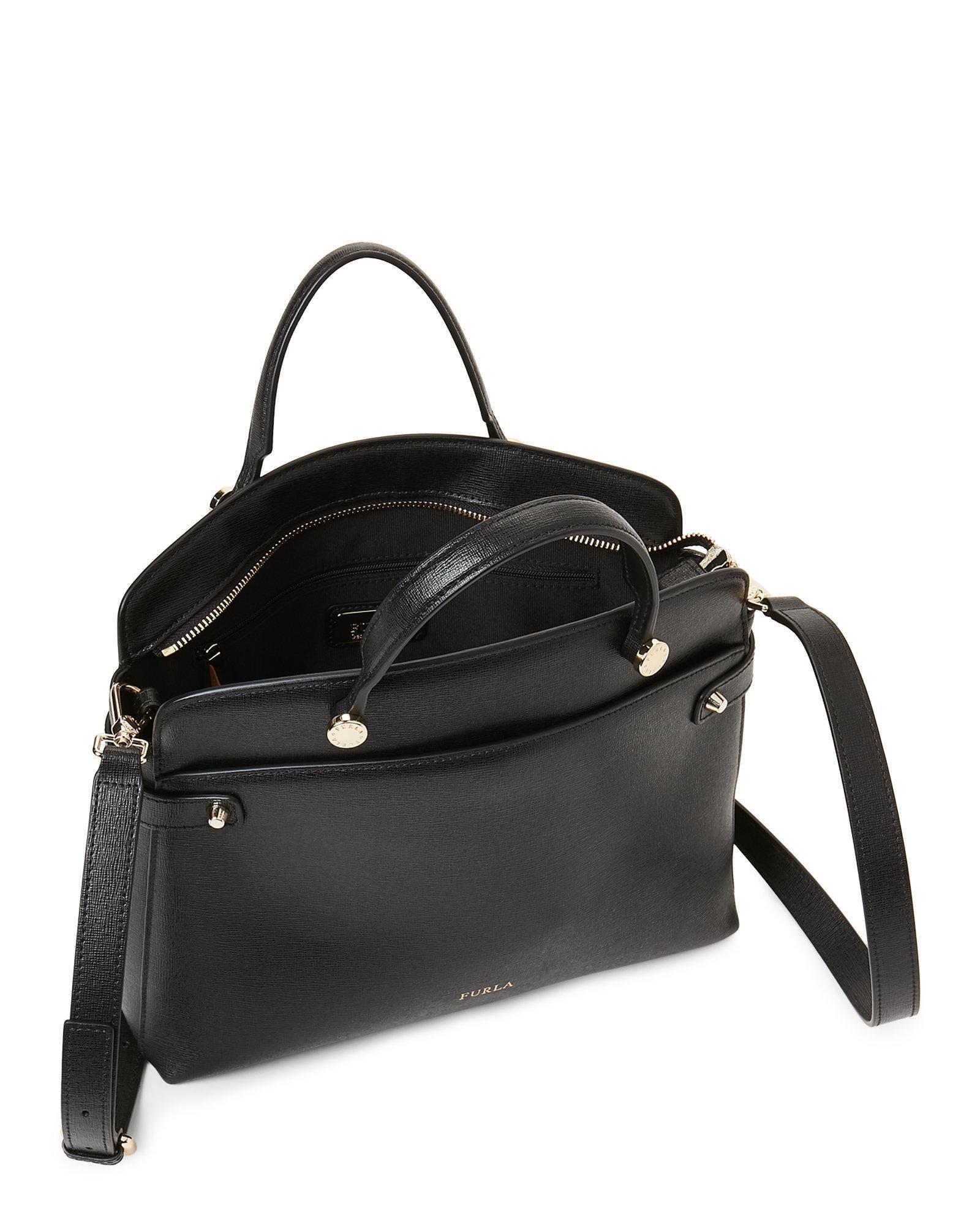 Tote Lyst Black Agata Medium Furla In Leather p8rw8I