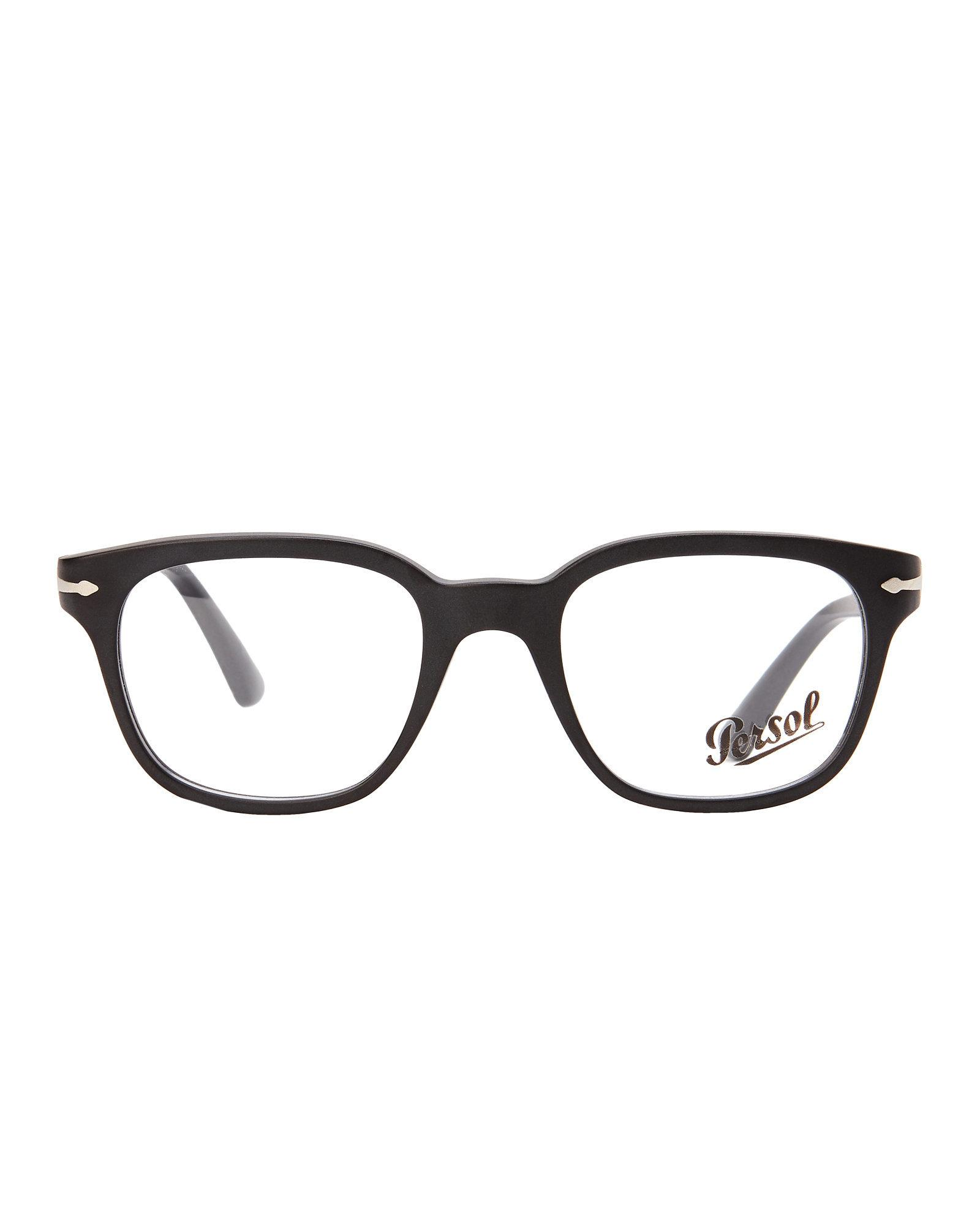 Lyst - Persol Po3093 Black Oval Optical Frames in Black