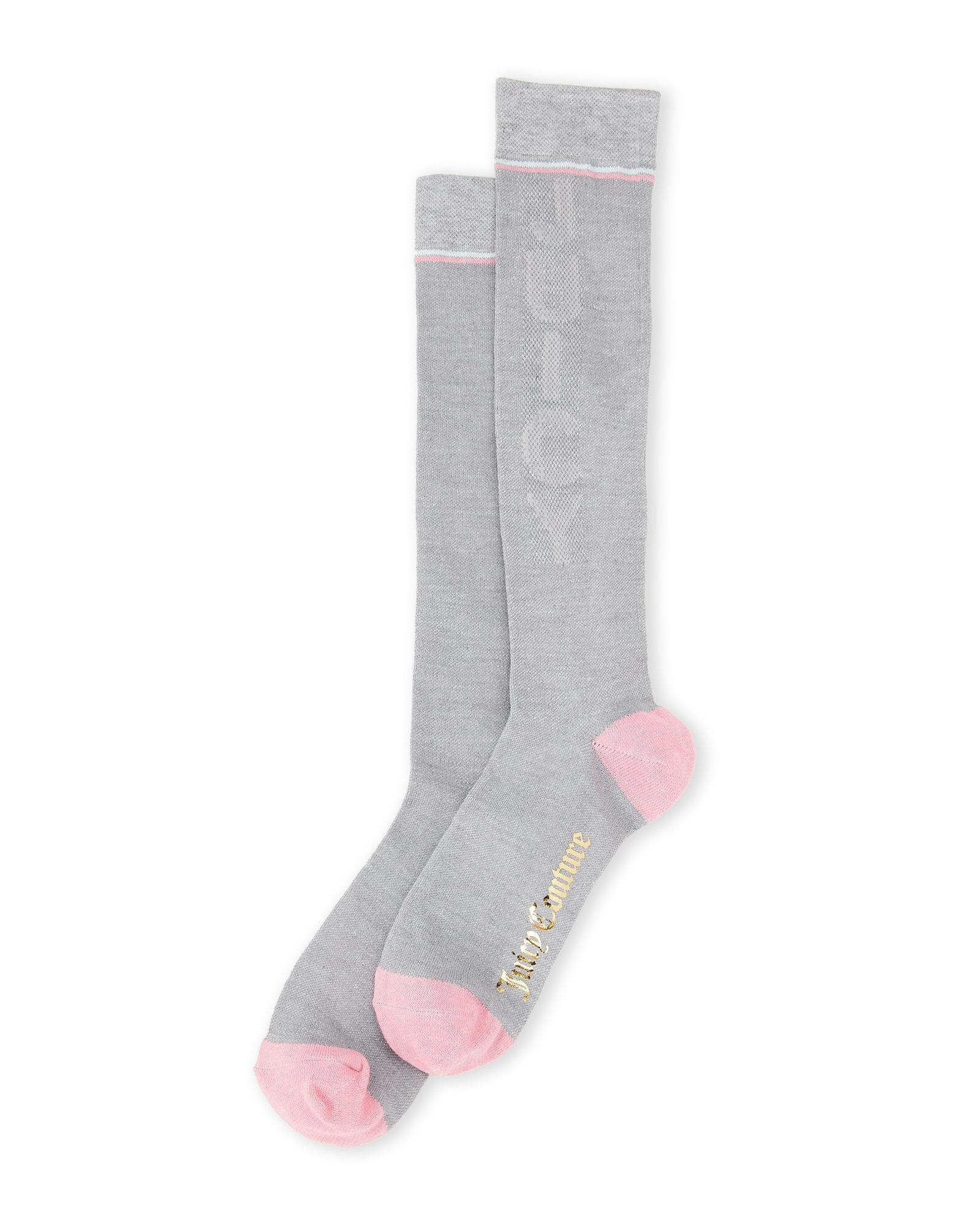 a66ee022d3 Lyst - Juicy Couture Mesh Logo Knee-high Socks in Gray for Men