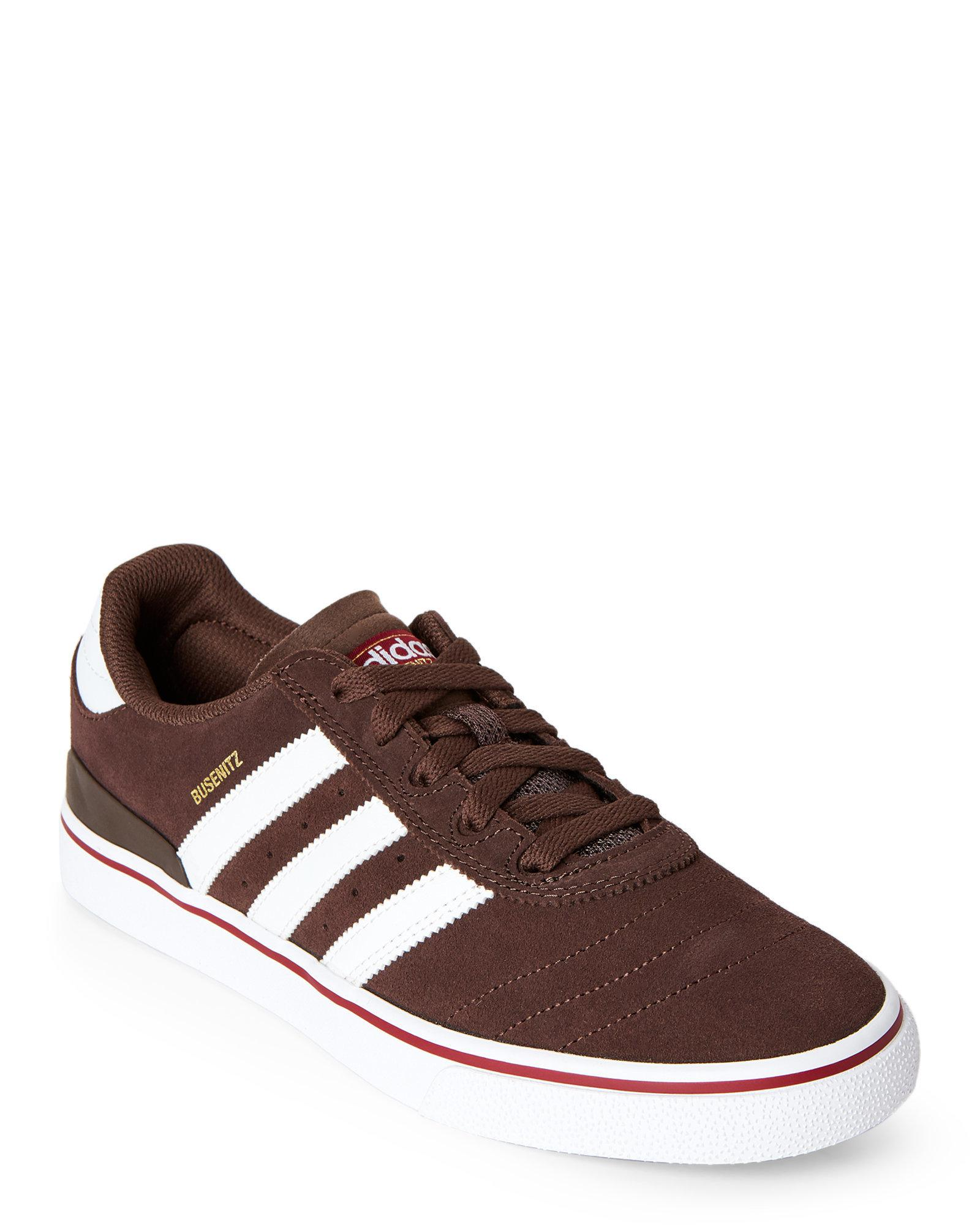 1856237d1bc Lyst - adidas Brown   White Busenitz Vulc Adv Sneakers in Brown for Men