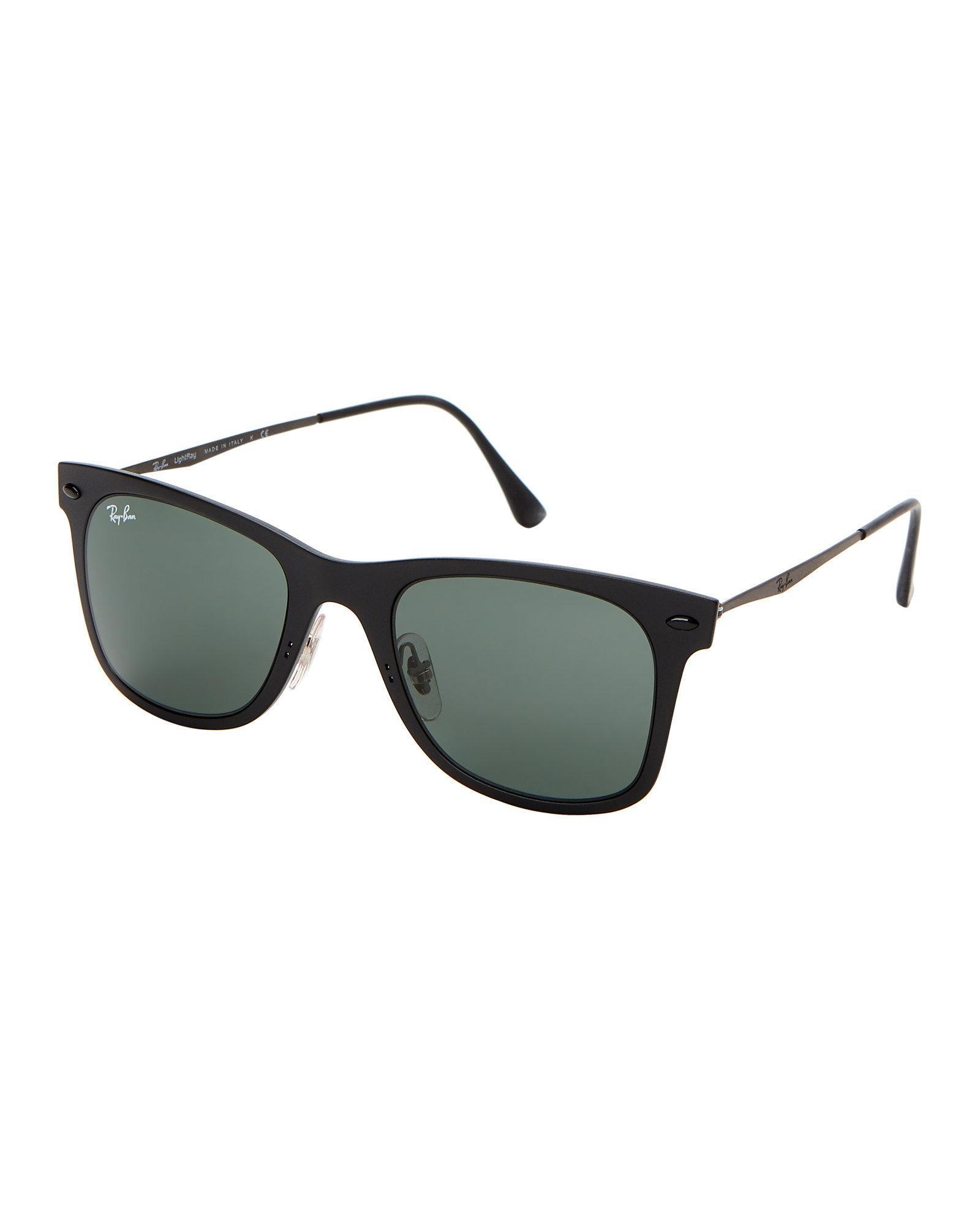 4fd5452eec Ray-Ban Rb4210 Black Light Ray Wayfarer Sunglasses in Black for Men ...