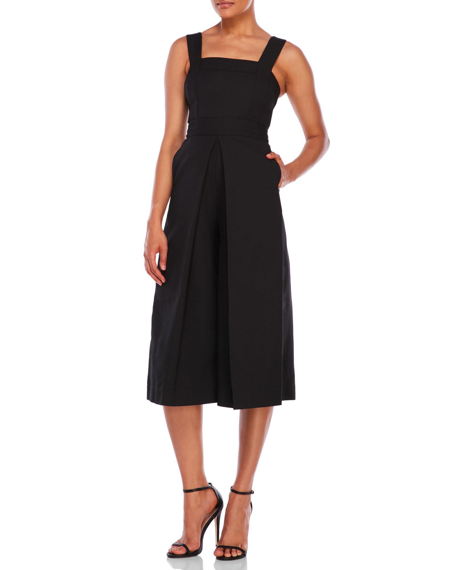 8e4a558c374 Lyst - Kendall + Kylie Jacquard Culotte Jumpsuit in Black