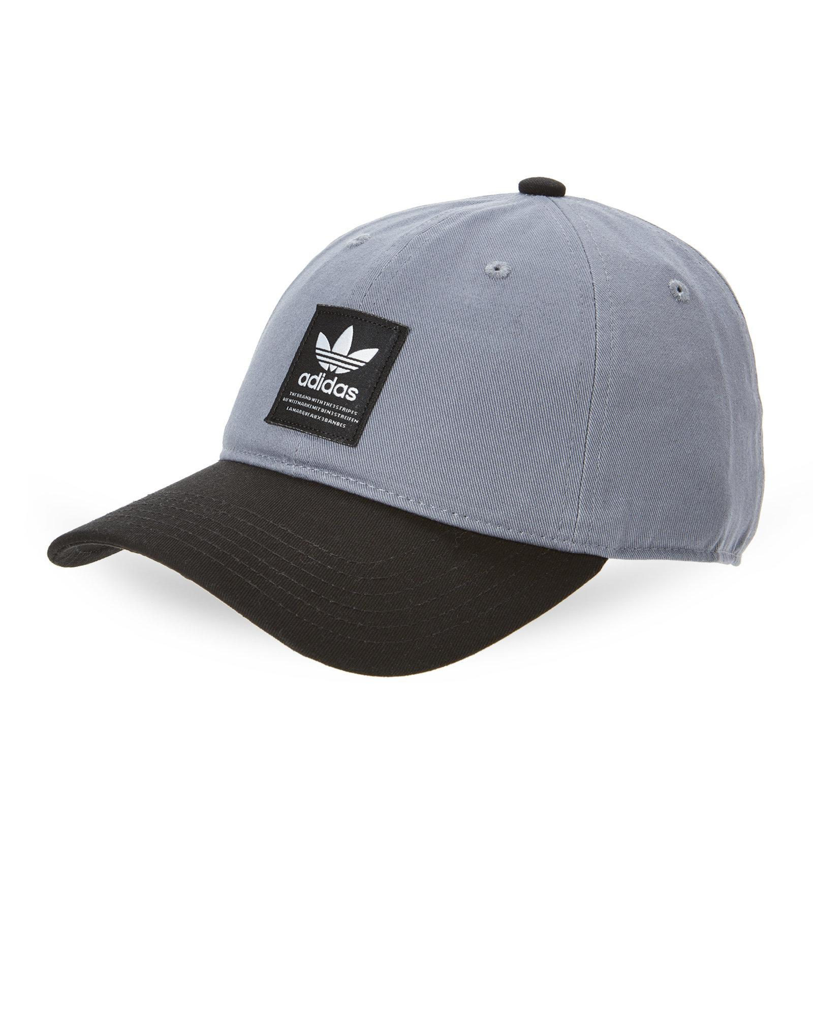 ec436337b31 Lyst - Adidas Grey   Black Baseball Cap in Gray for Men
