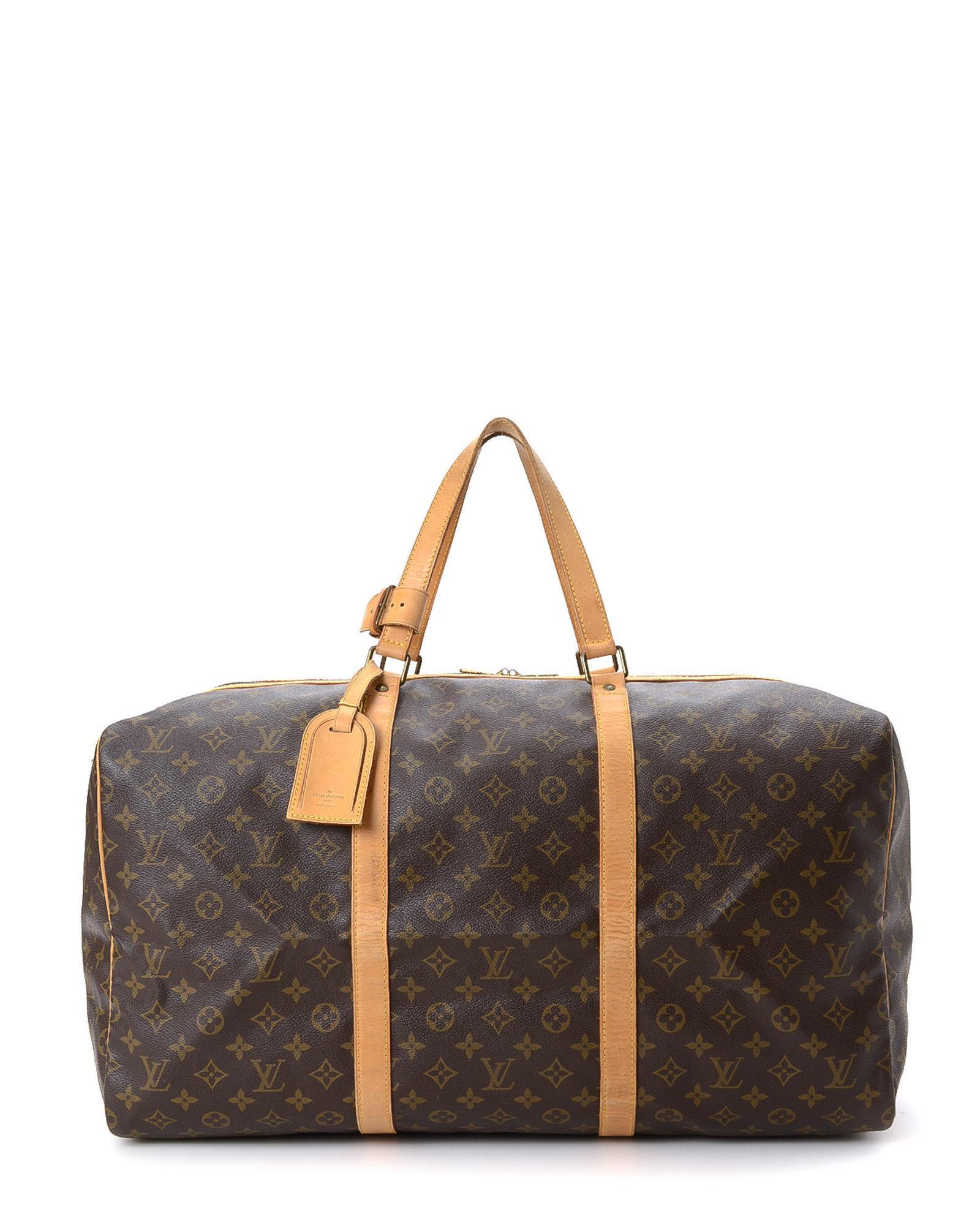 73d7a0a455b Lyst - Louis Vuitton Sac Souple 55 Travel Bag - Vintage in Brown