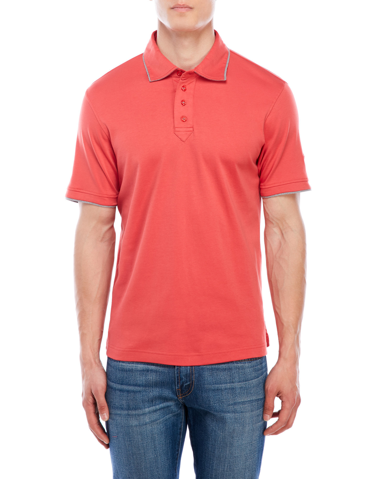 English Laundry Pima Polo Shirt In Red For Men Lyst