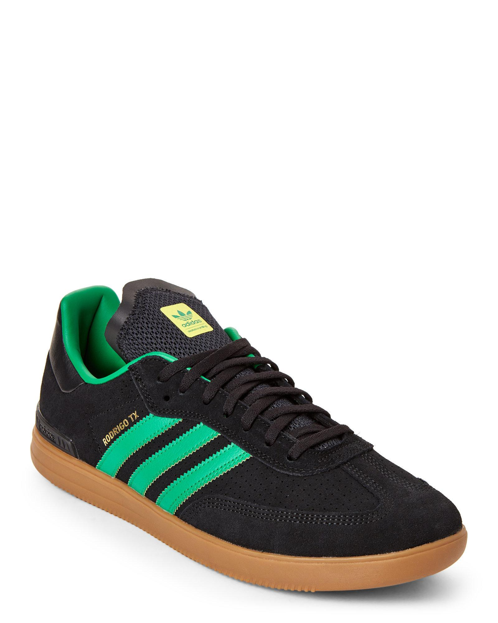 lyst adidas samba black and green vantaggio skater scarpe in verde
