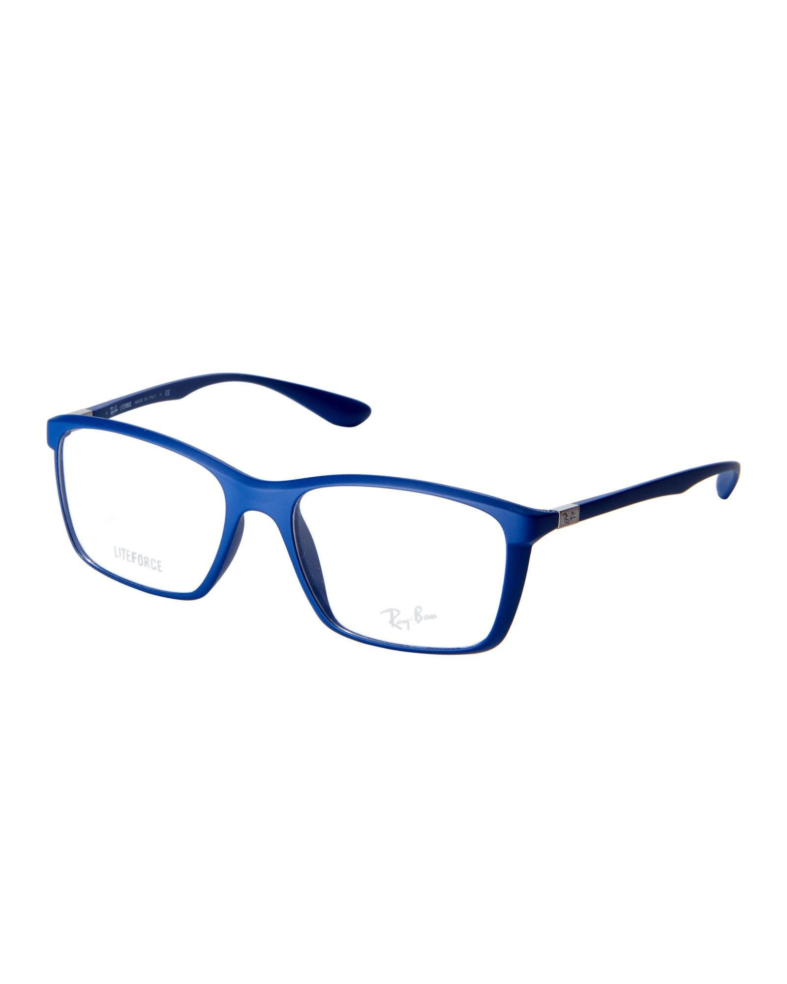 Lyst - Ray-Ban Rb7036 Matte Blue Square Frames in Blue