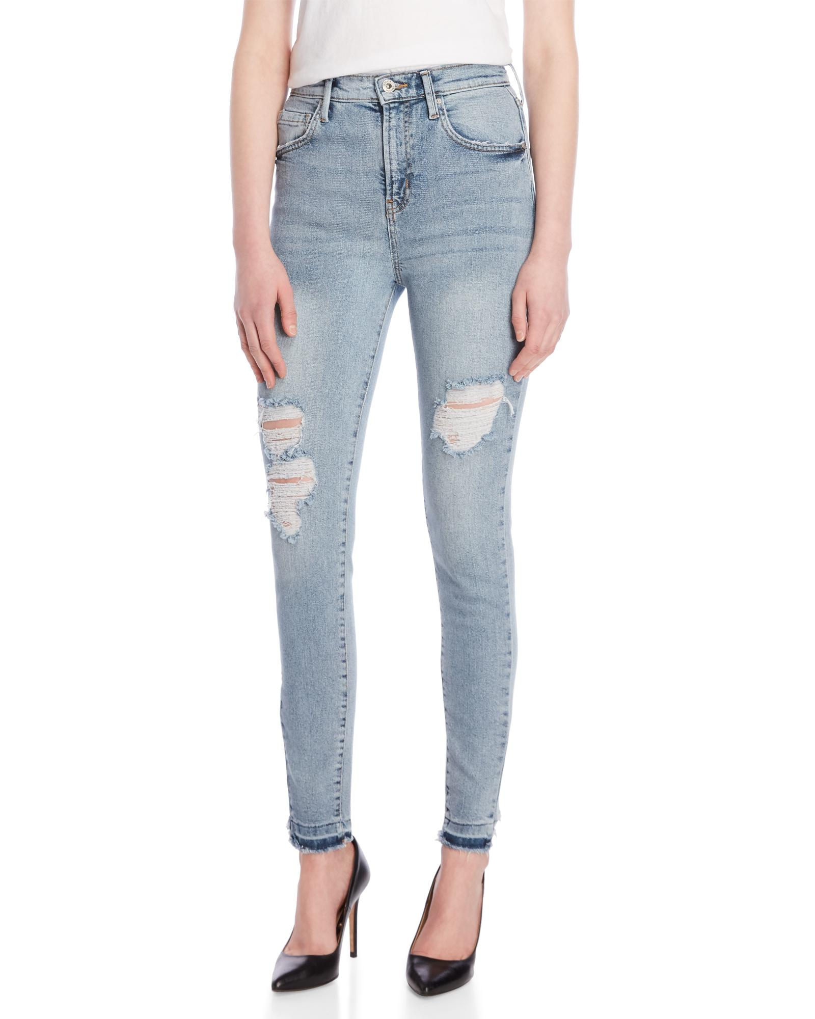 ebf93470ce0 Lyst - Jessica Simpson Infinite Slim Straight Jeans in White