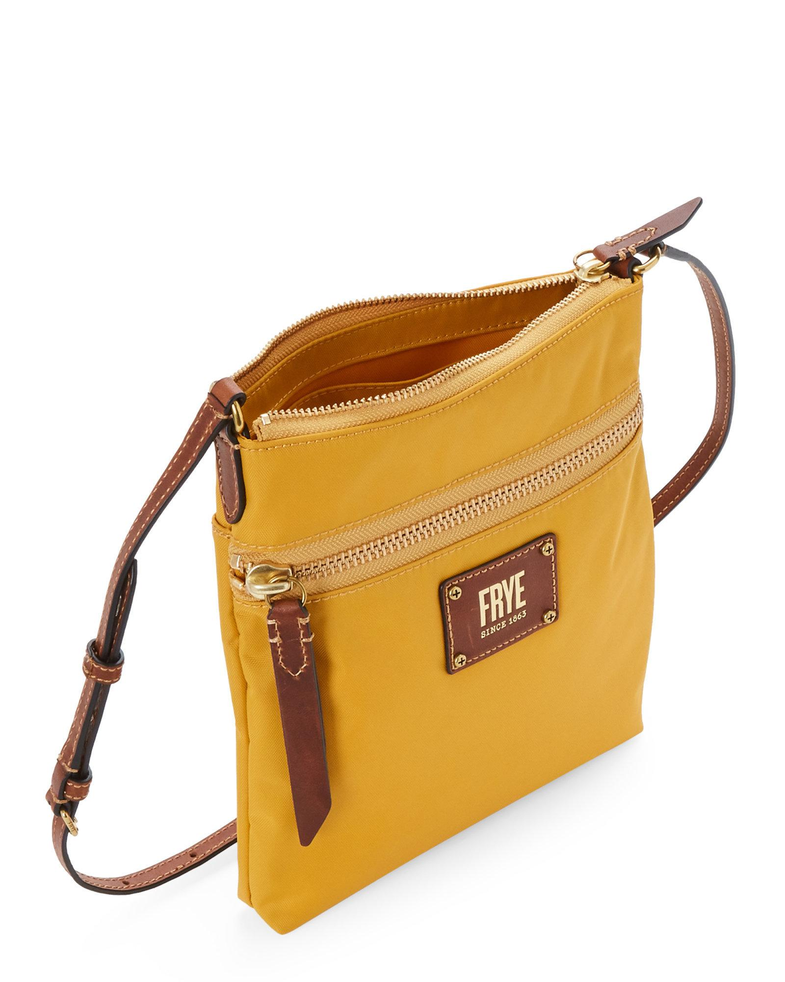 b823cb3b0d80 Lyst - Frye Yellow Ivy Nylon Crossbody in Yellow - Save 21.590909090909093%