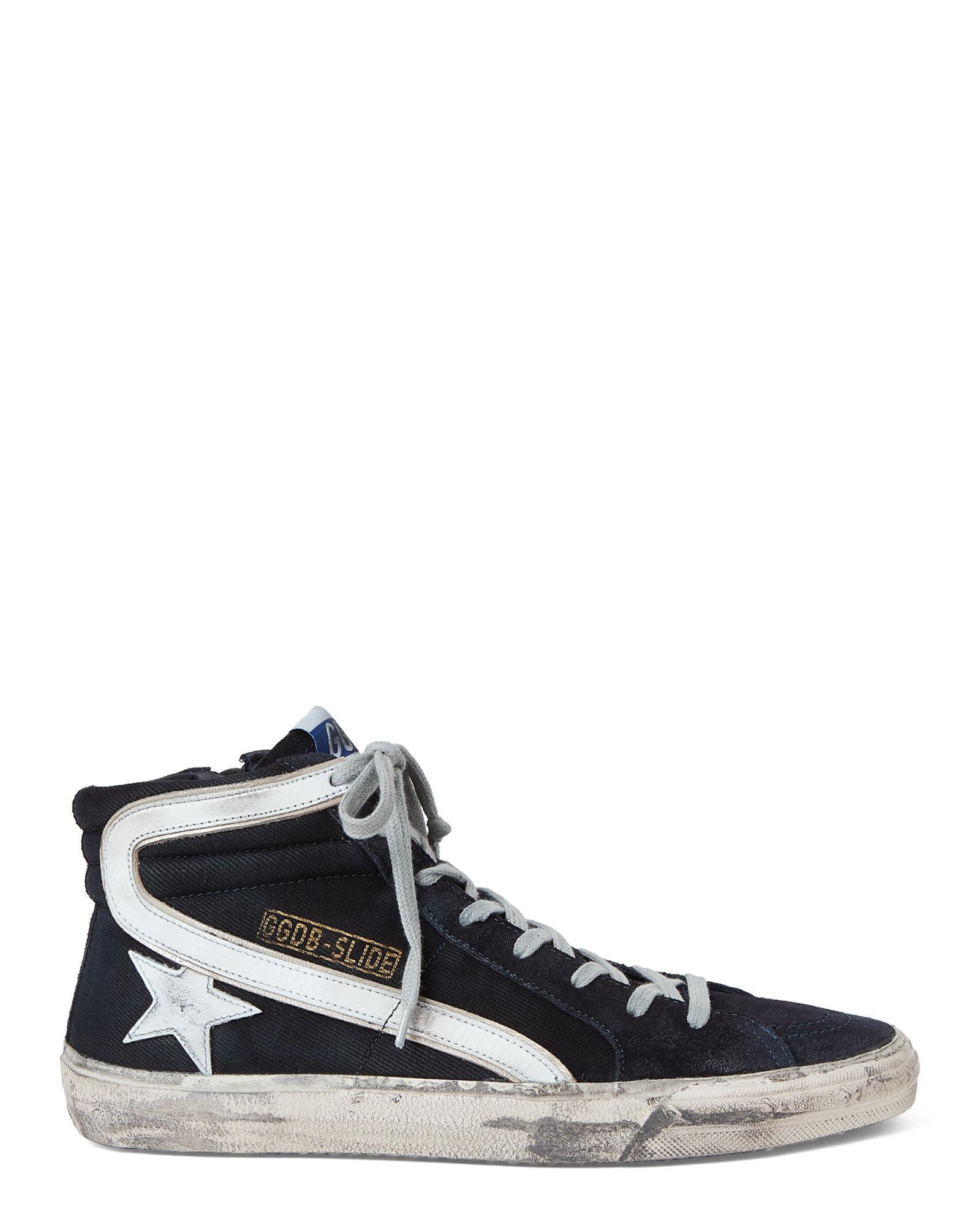 1ac41897fc39a Lyst - Golden Goose Deluxe Brand Navy   White Slide High-top Sneakers in  Blue