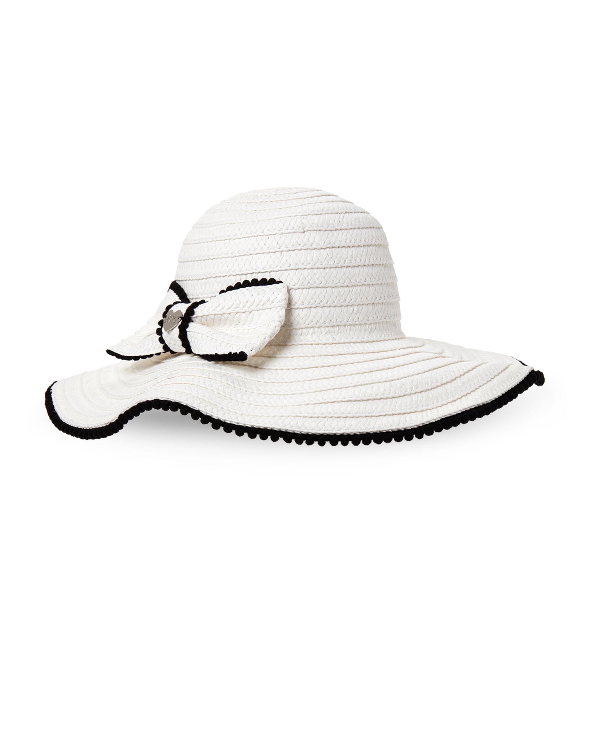 809c000390c14c Betsey Johnson - White Bow Pom-pom Floppy Hat - Lyst. View fullscreen